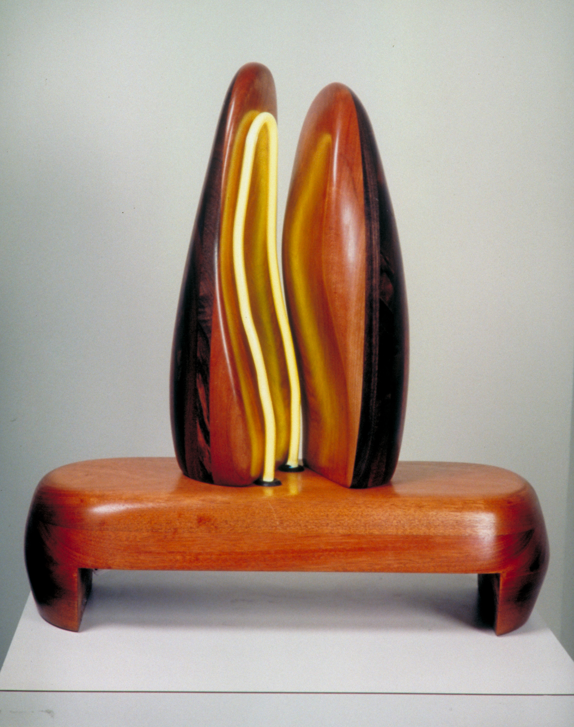 Zenith Gallery-Margery Goldberg- Joined at the Hip-2003- neon and exotic wood-36h x 12w x 5 d-$3,500.jpg