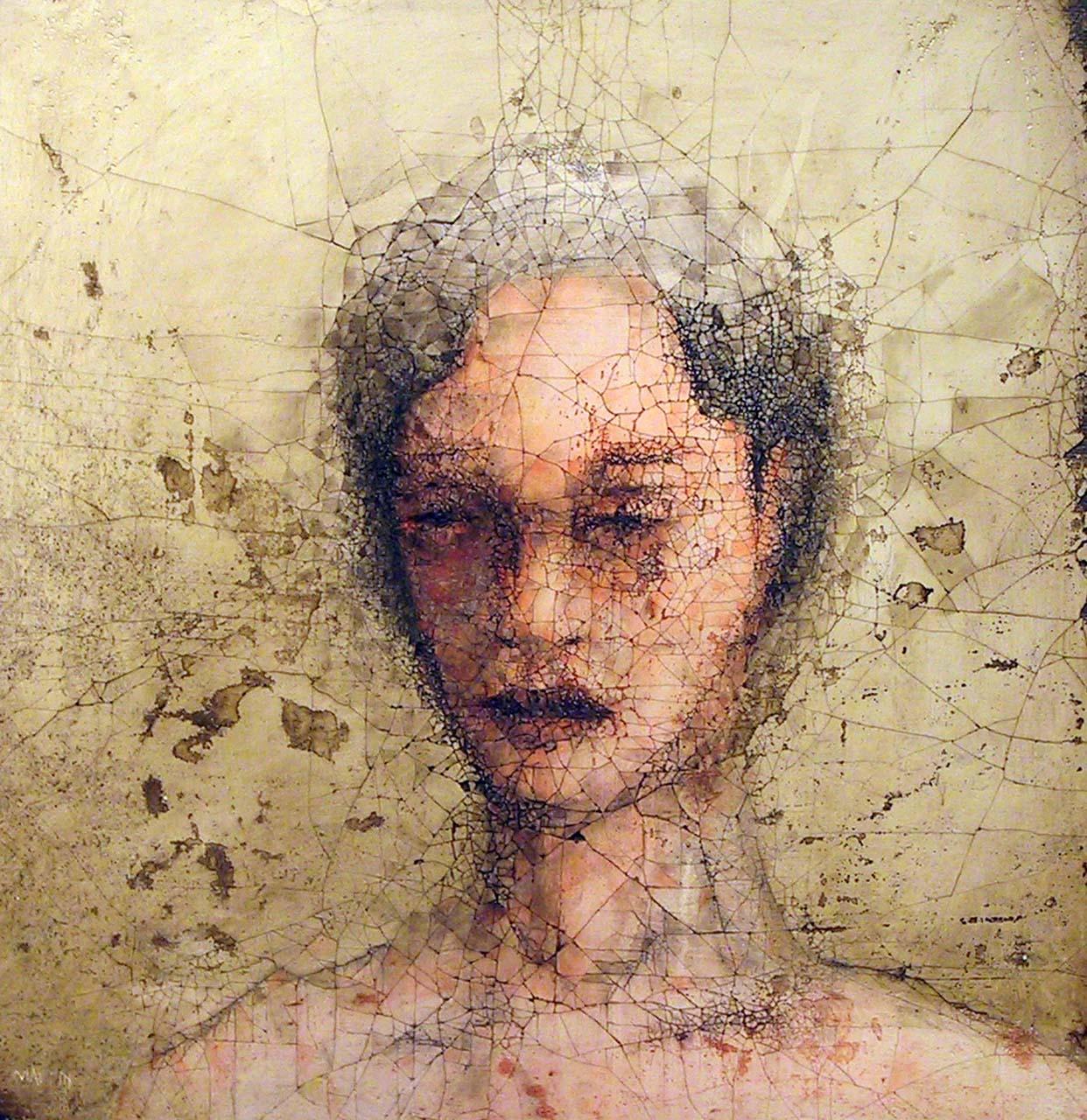 Zenith Gallery-Stephen Maffin-Emmy Alone-2003-Plaster on Burlap- 32h x 32w - $3,200.jpg