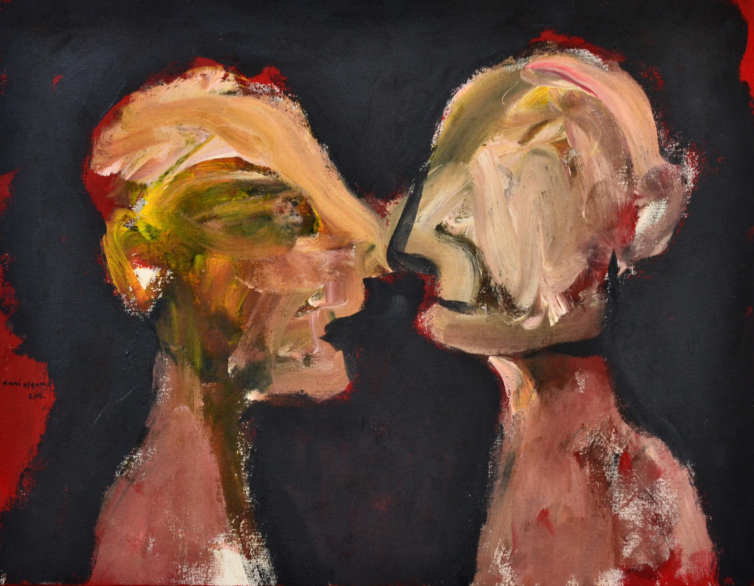 XOL Gallery - Hani Alqam (Jordan) - _Mutual Misunderstanding_ - 31 x 24 in - Acrylic on canvas - Baltimore, MD 2015 - $2,500 .jpg
