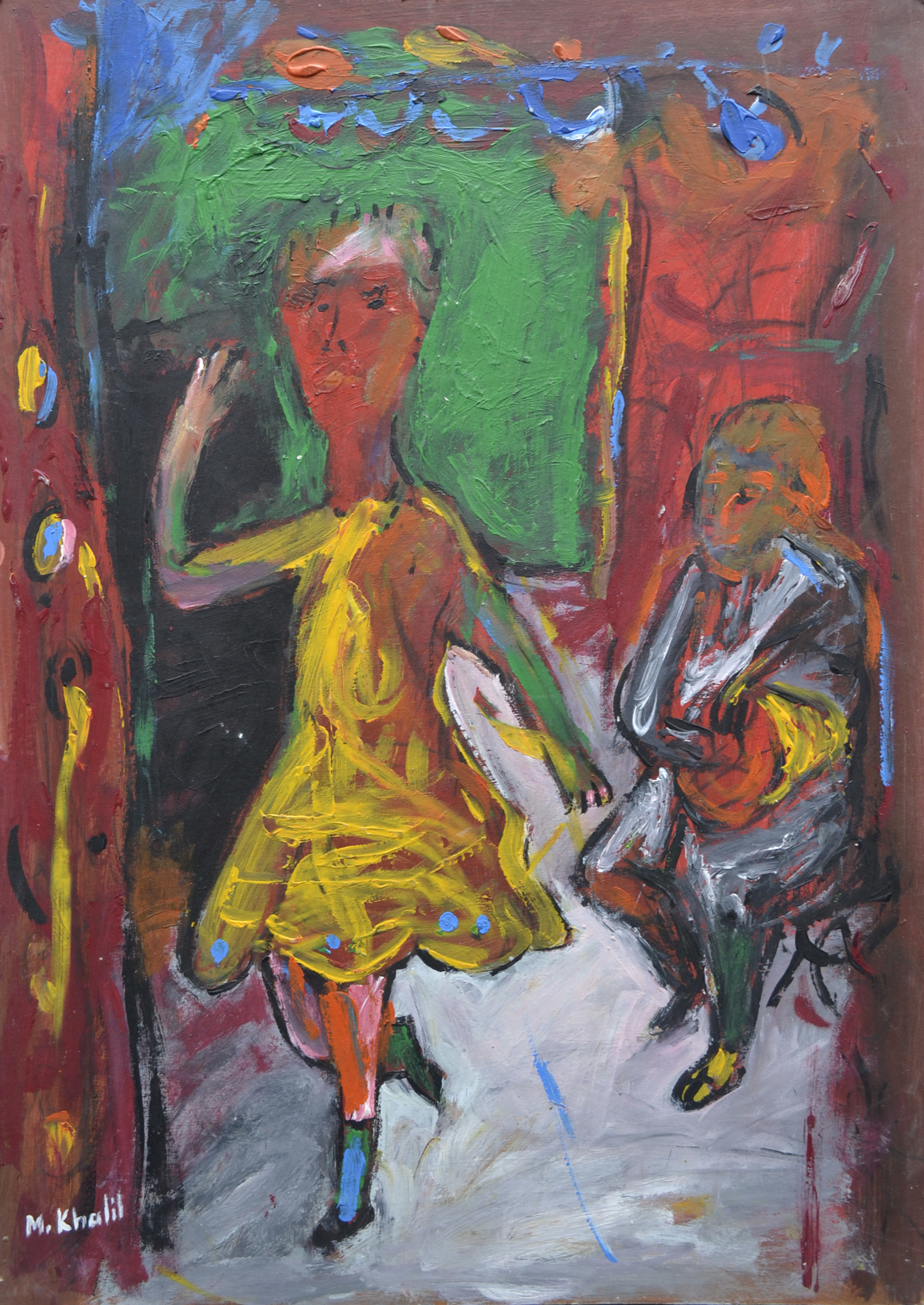 XOL Gallery - Mohamed Khalil (Palestine) - _Ancient Memories_ - 20 x28 in - Acrylic on cardboard - Paris 2001 - $1,500.00.jpg