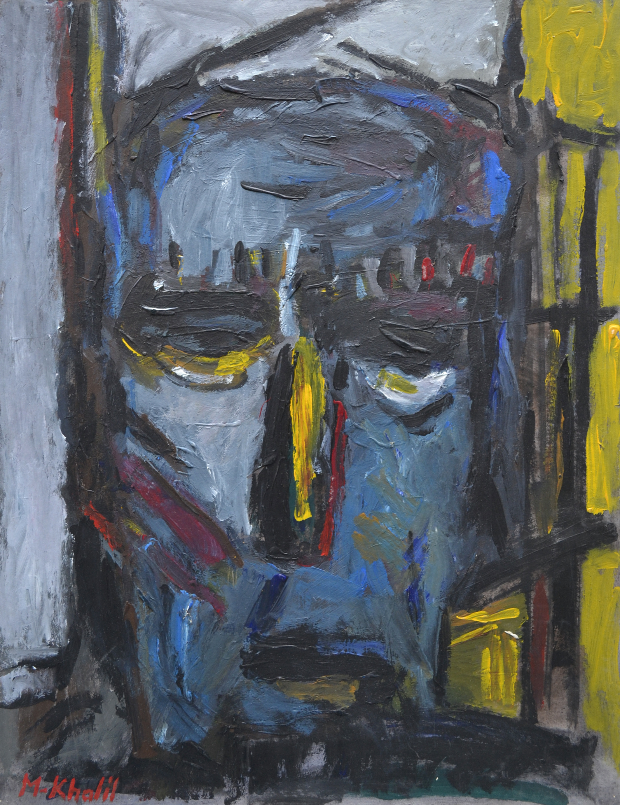 XOL Gallery - Mohamed Khalil (Palestine) - _Portrait_ - 20 x26 in - Acrylic on cardboard - $1,500.00.jpg
