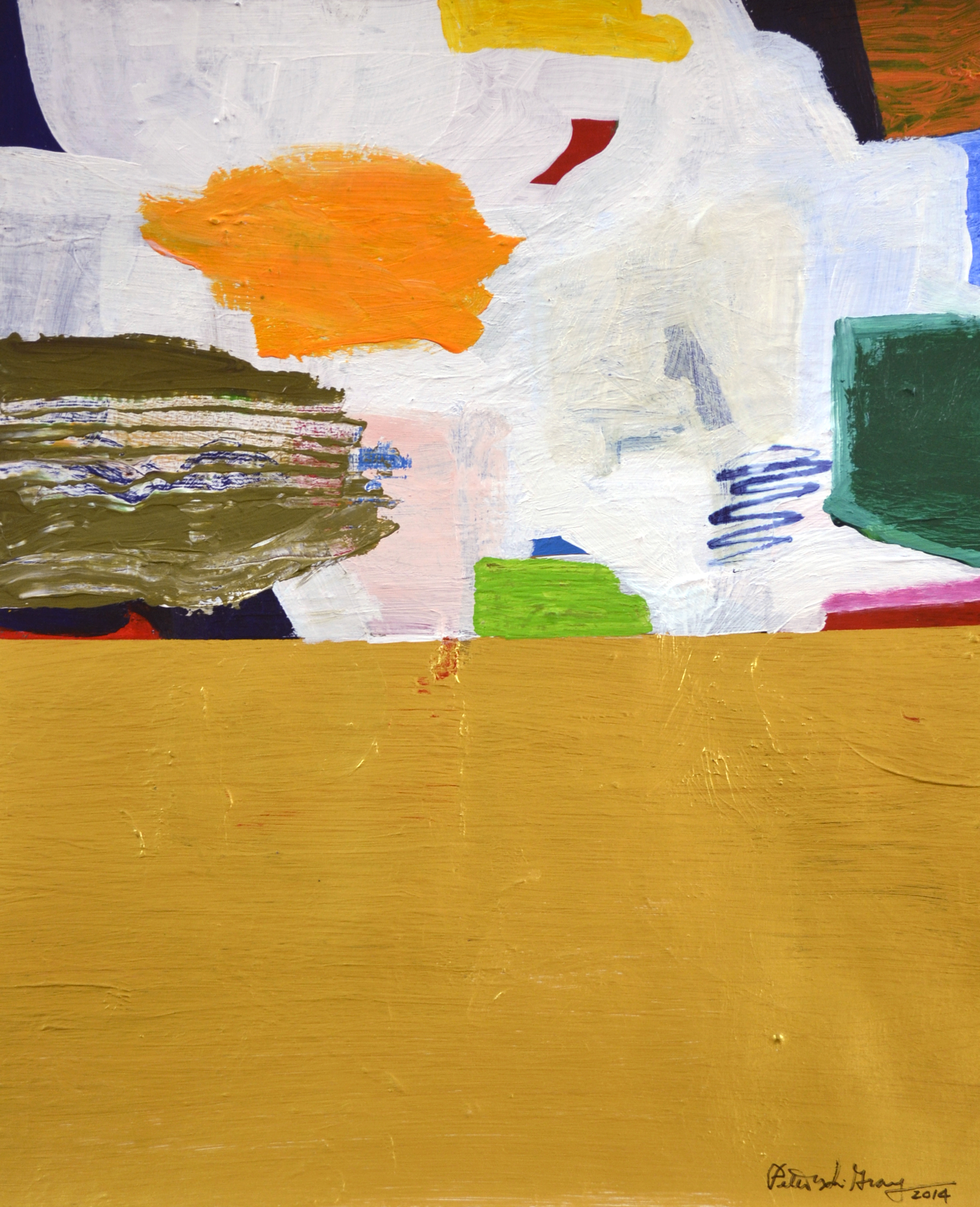 XOL Gallery - Peter Grey (USA) - _Fall Series I_ - 11 x 14 in - Acrylic on canvas paper - Baltimore, MD 2014 - $1,500.jpg