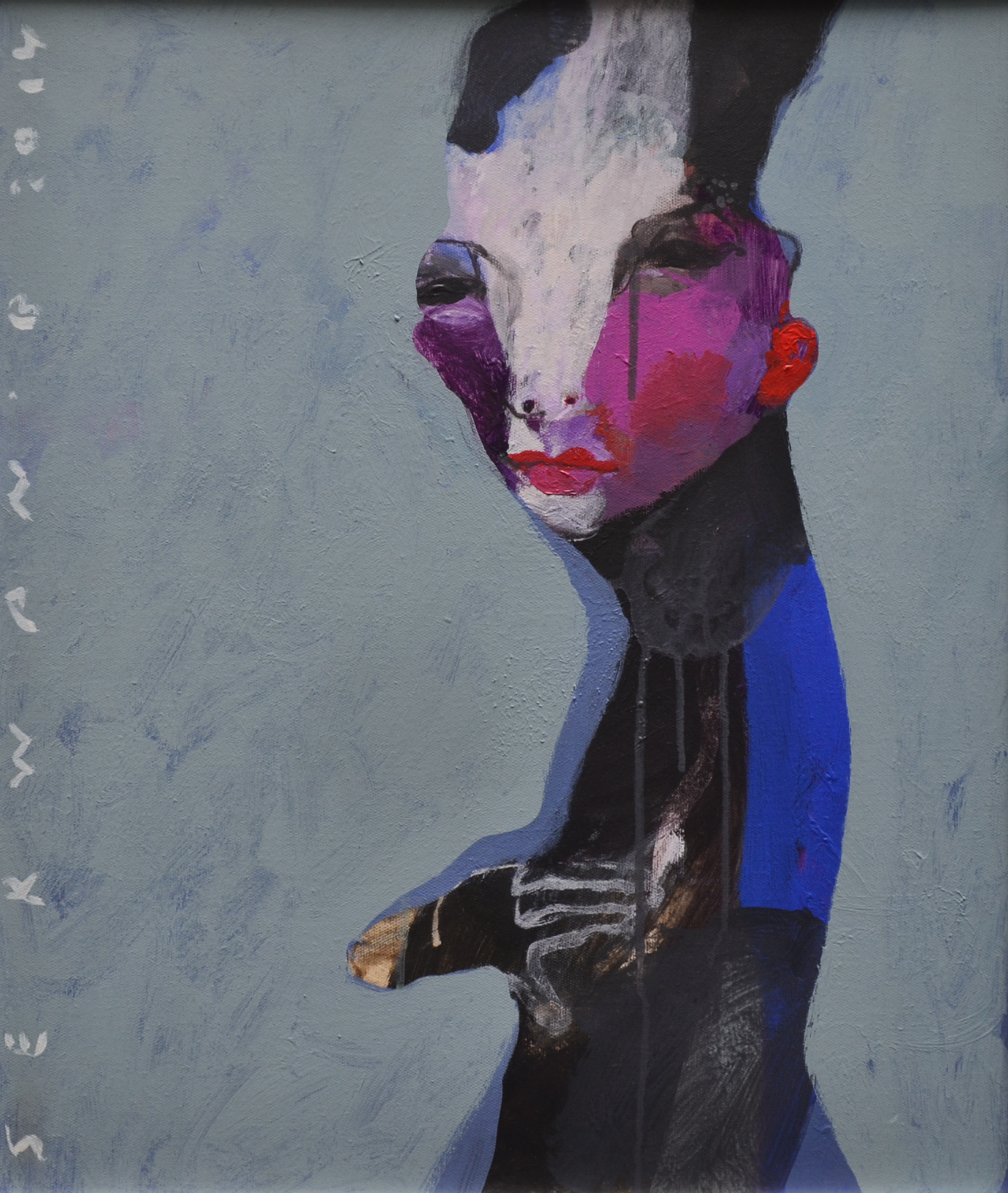 XOL Gallery - Serwan Baran (Iraq) - _Portrait From Iraq II_ - 20 x 24 in - Acrylic on canvas - Amman, 2014 - $6,500.jpg