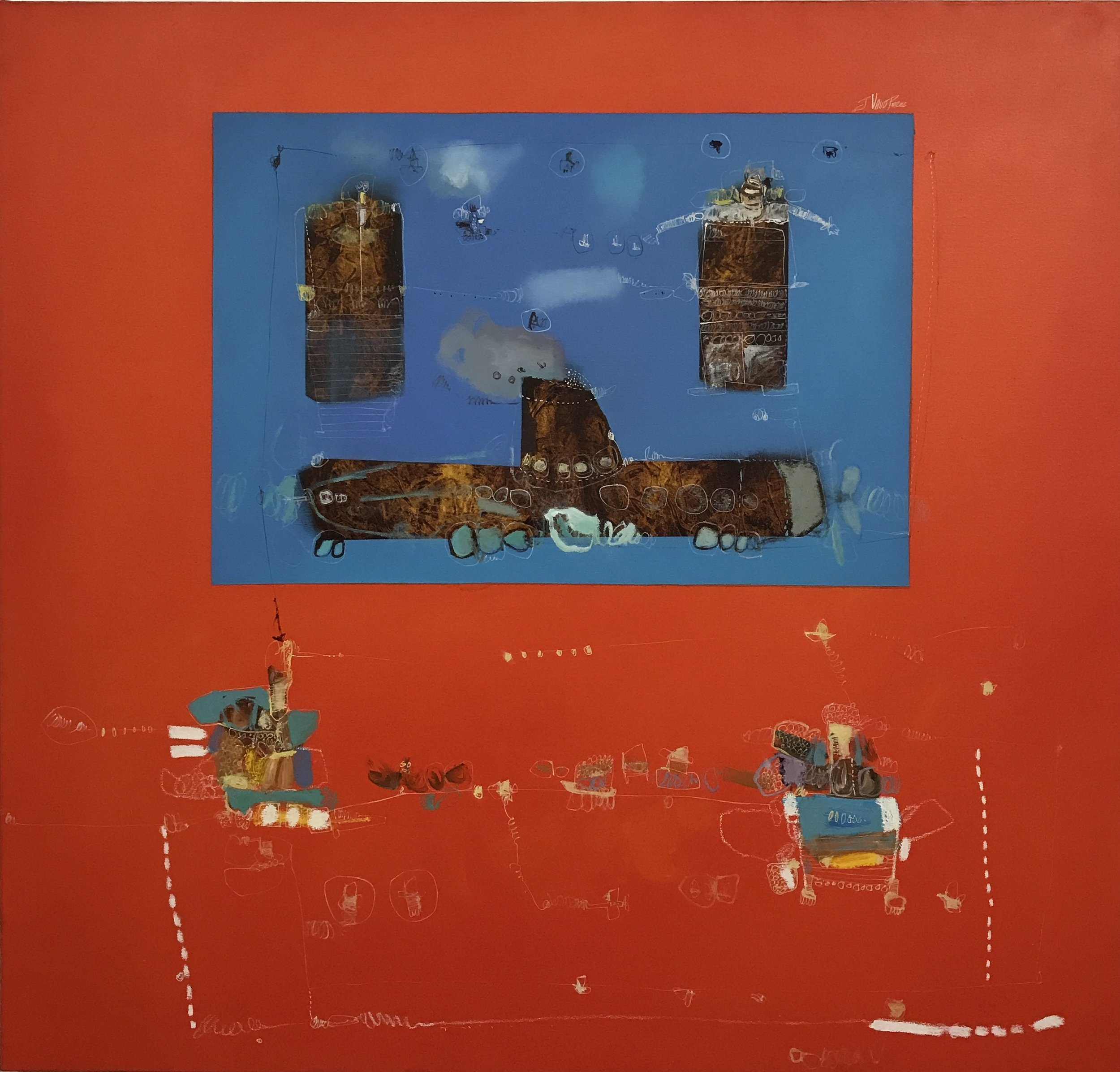 Cindy Lisica Gallery - Javier Valle Pérez - _El Submarino_ - 41 x 43 inches - oil on canvas - 2018 - $3700.JPG
