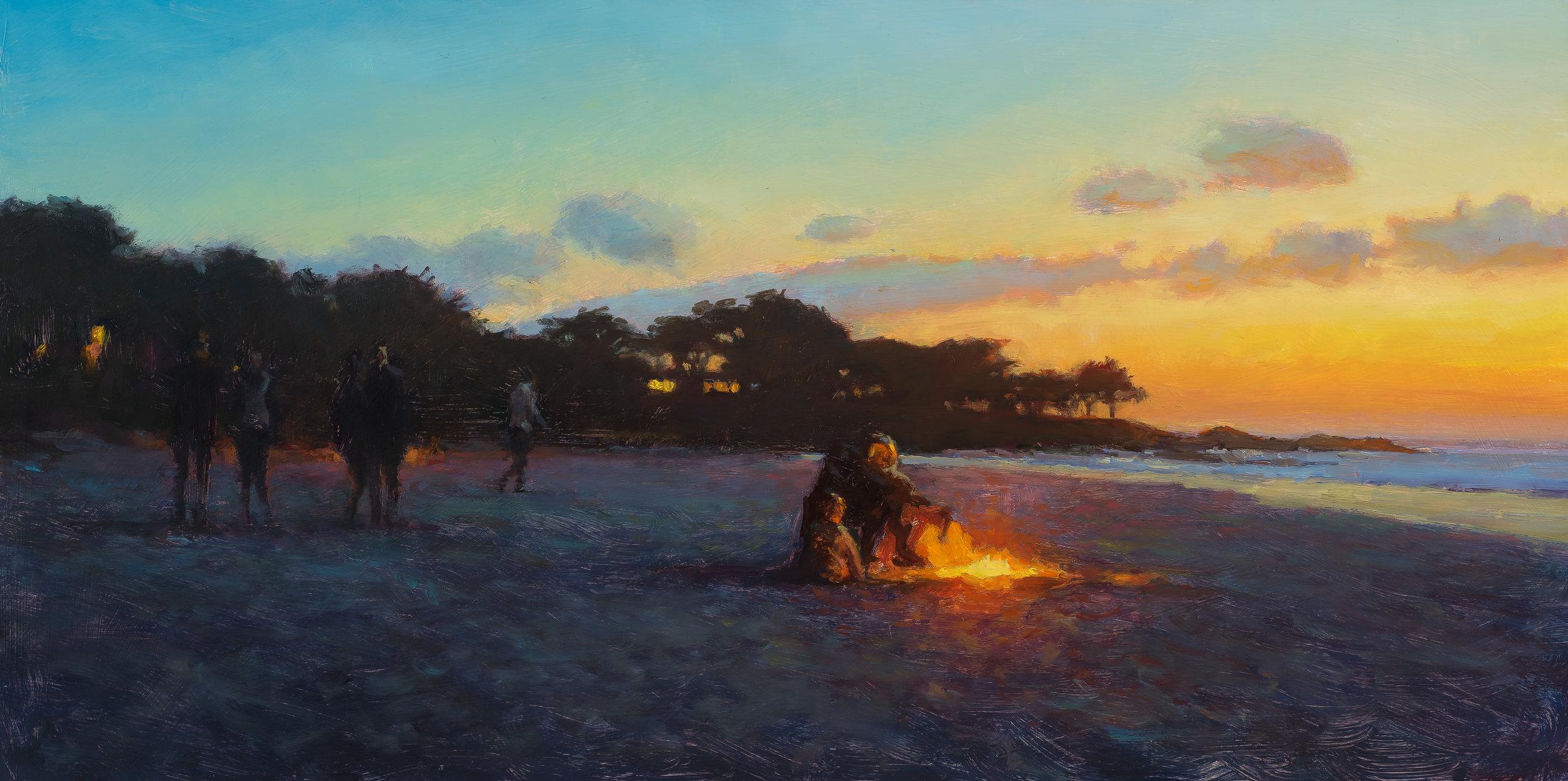 Susan Calloway, Carl Bretzke, carmel-beach-sunset-10x20-aluminum.jpg