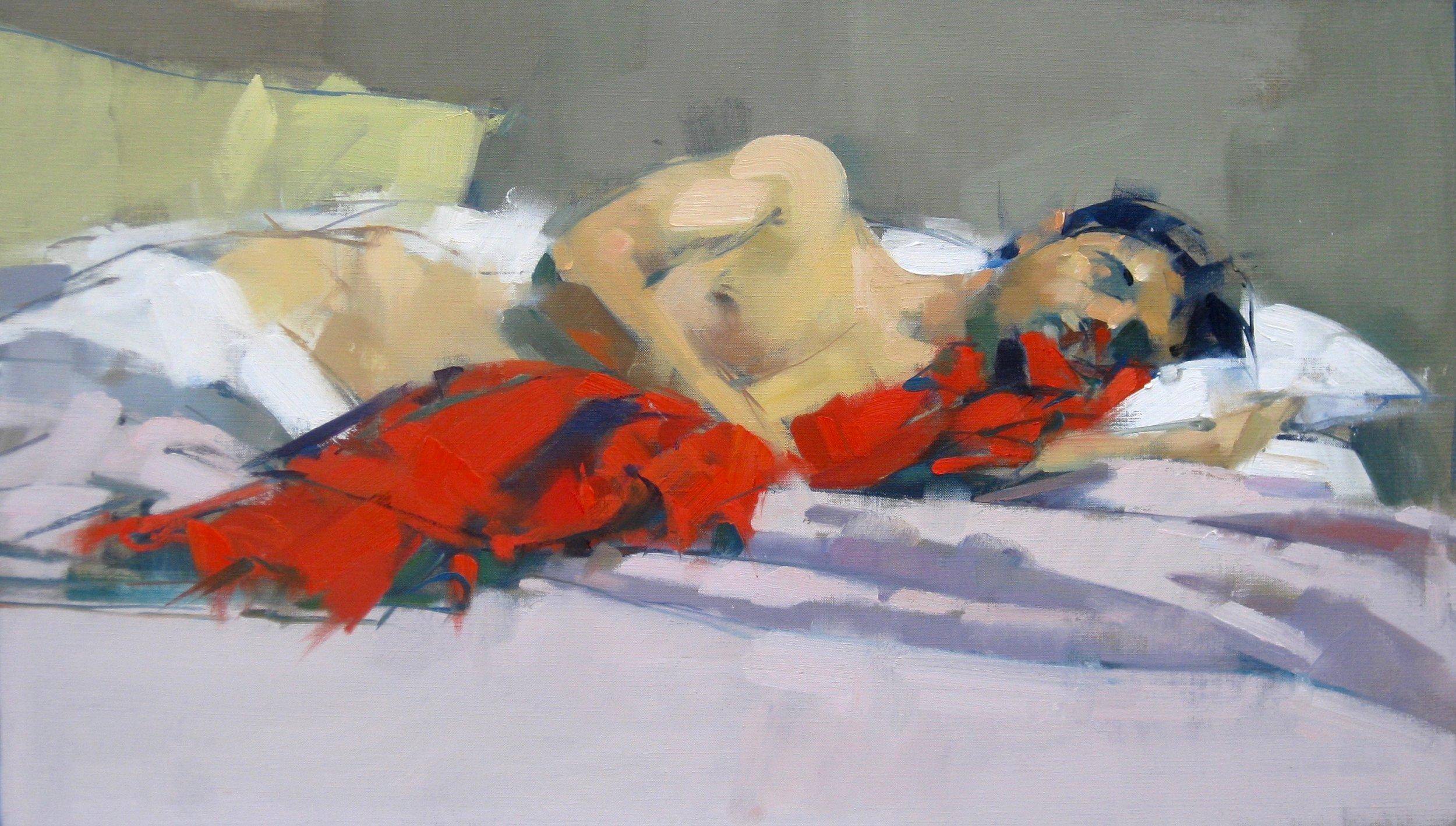 Siner sleeping lover 16x28.jpg