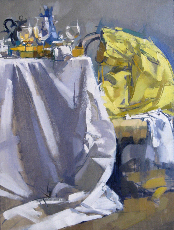 Susan Calloway Fine Arts-Maggie Siner-Yellow Dress-Oil on Linen-24x32-6,200.jpg