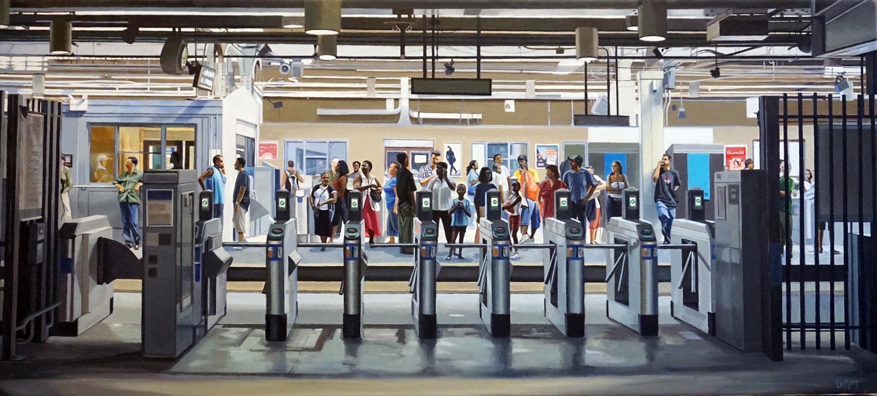 Susan Calloway Fine Arts-Susan Lamont-A Long Way To Go-Oil on linen-18x40-$4600.jpg