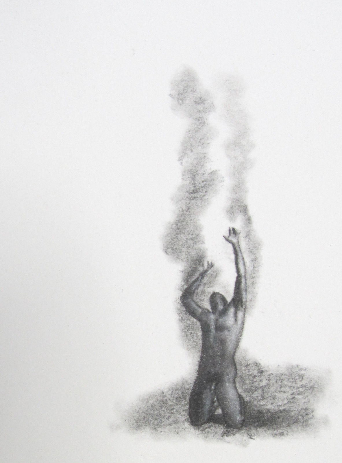 Zenith Gallery - F. Lennox Campello- Adam Begging - 2013- Charcoal on paper - 8h x  6w - $125.JPG
