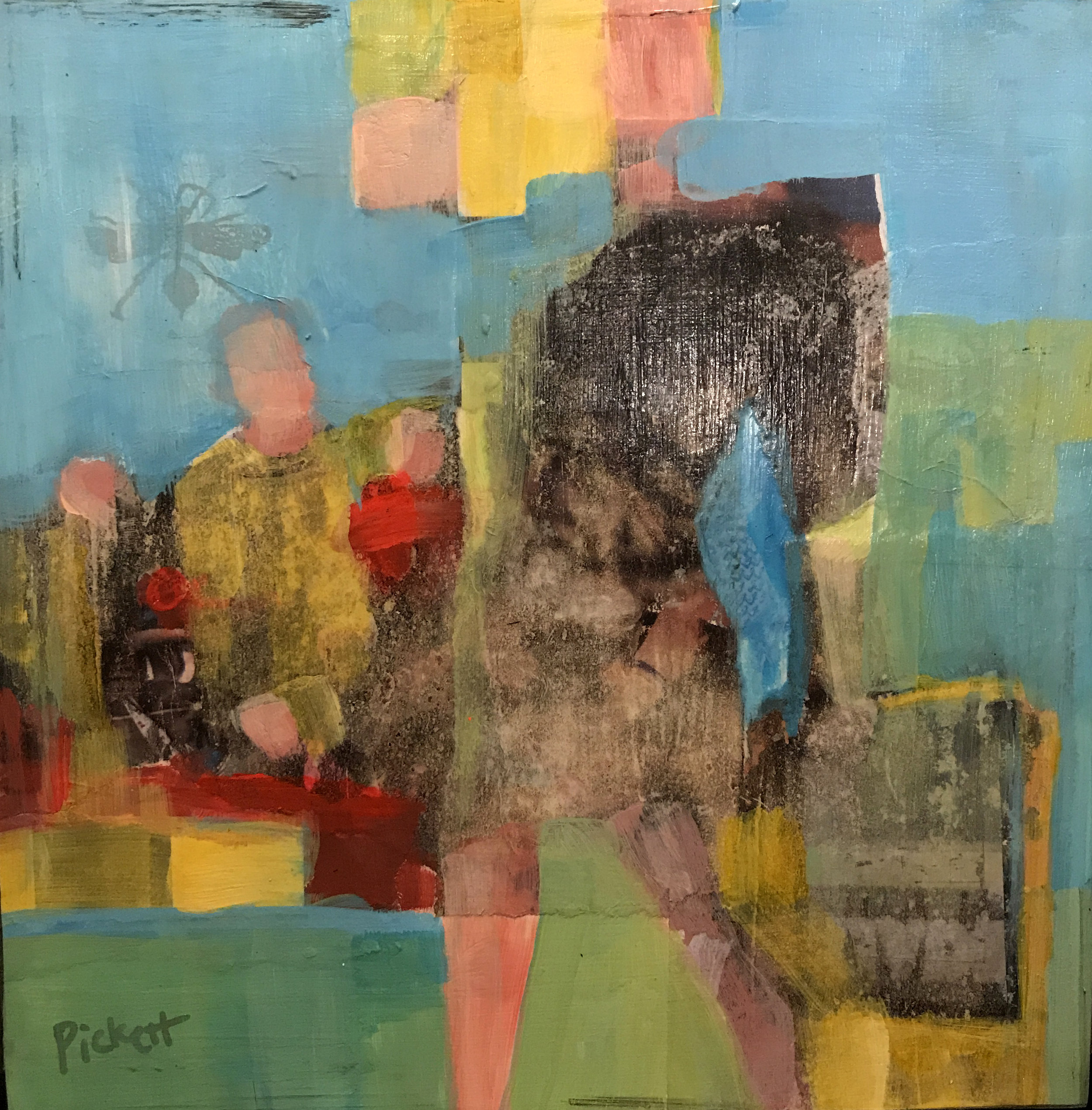 Foundry Gallery-Ann Pickett-Bottle Blonde_-8x8-Acrylic with collage-2017-$200.jpg