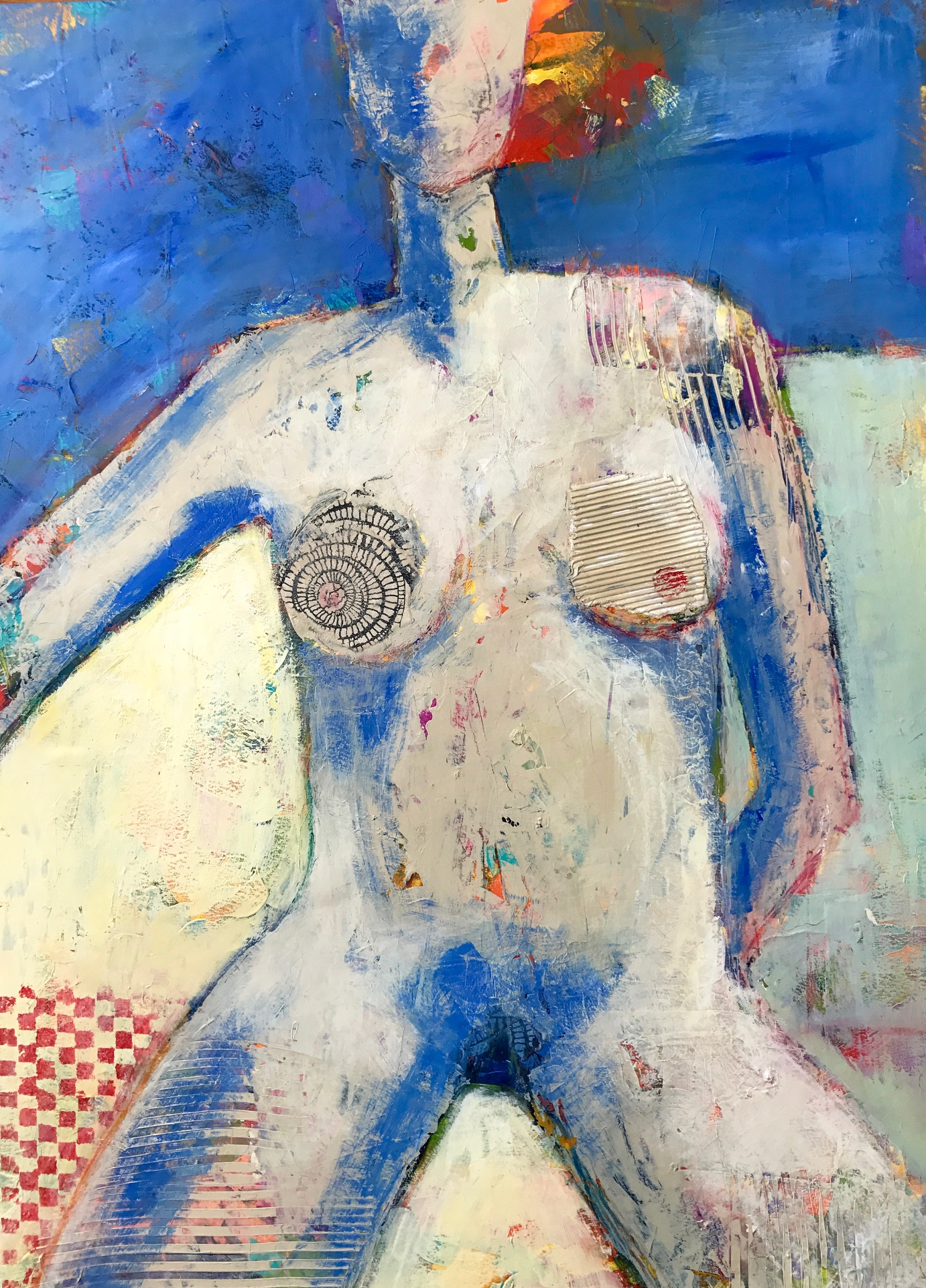 Foundry Gallery-Charlene Nield-I am Woman-30x22-Acrylic with mixed media-2018-$1200.JPG