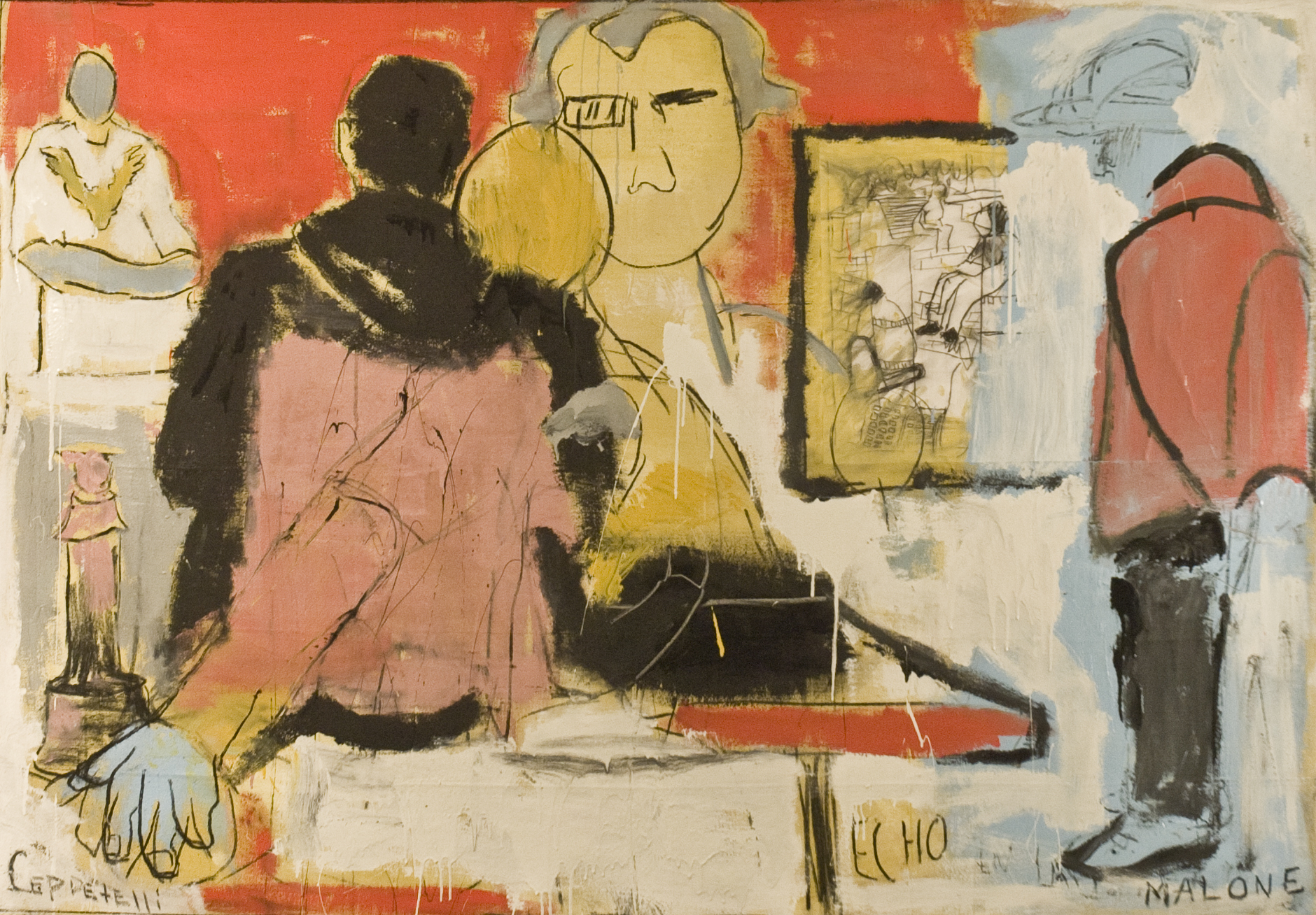 Foundry Gallery-Duly Noted Painters Ceppetelli _ Malone-Onlookers-52x76-Latex Paint, Charcoal, on Canvas-2016-$6500.jpg