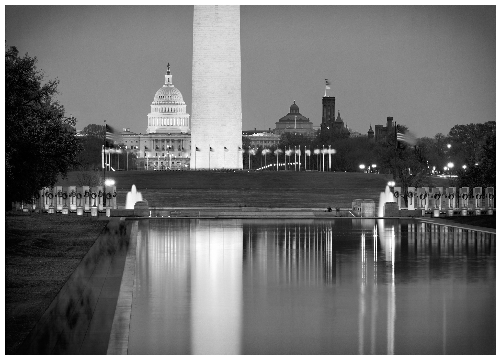 Foundry Gallery-Gregory OHanlon-Reflections on the National Mall-12x16-Photograph-Open Edition--2014-$850.jpg