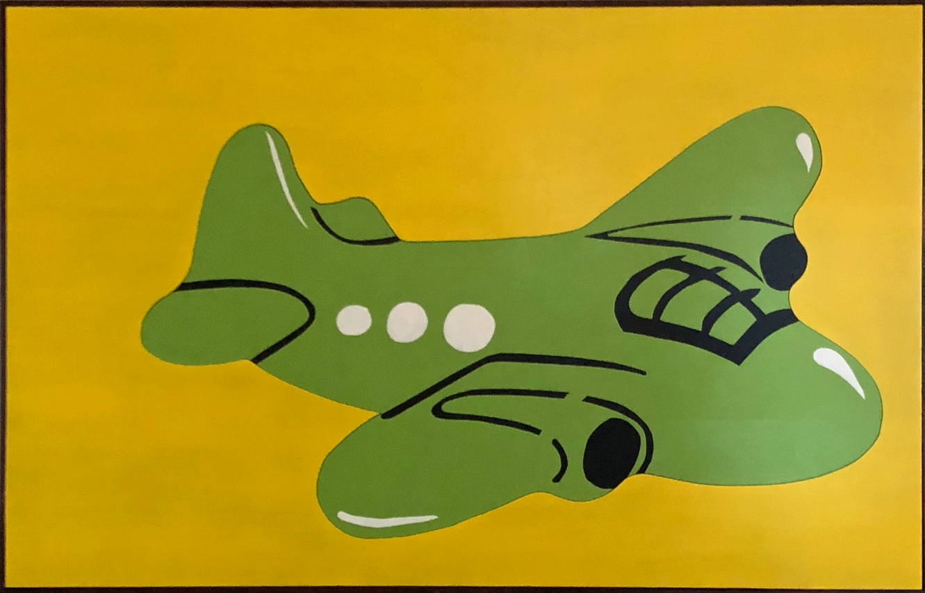 Airplane - Michael Larry Simpson - Latex paint on cut wood pieces - 35_ x 55_ - 2018 - $1,800.jpg