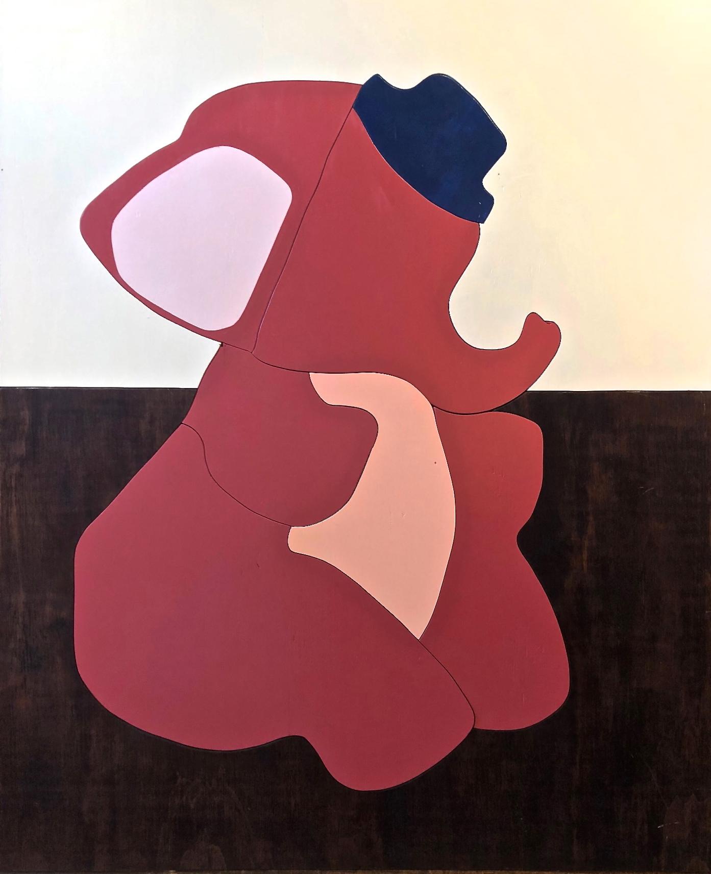 Elephant - Michael Larry Simpson - Latex paint on cut wood pieces - 49_ x 40_ - 2018 - 2,200.jpg