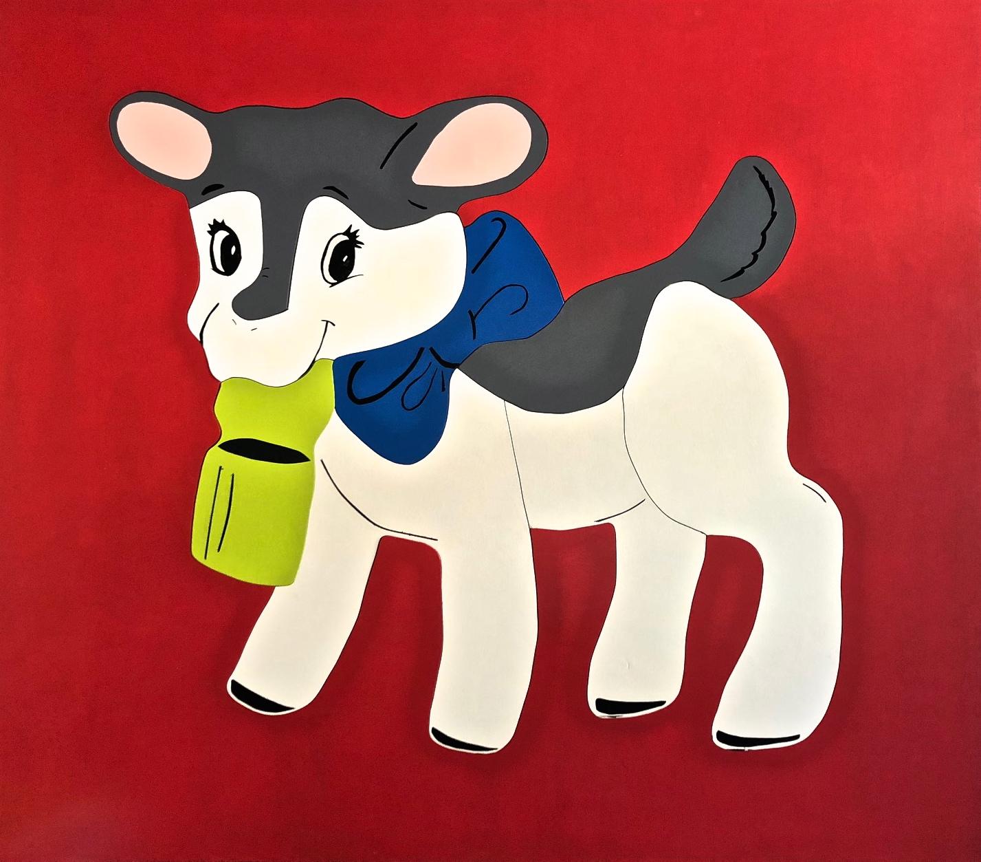 Lamb on Red - Michael Larry Simpson - Latex paint on cut wood - 43_ x 49_ - 2018 - $2,200.jpg