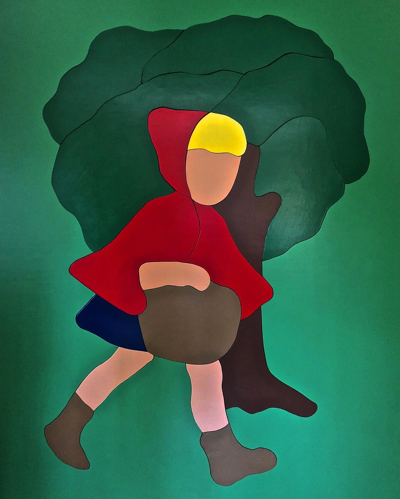 Little Red - Michael Larry Simpson - Latex paint on cut wood pieces - 61_ X 49_ - 2018 - $3,200.jpg