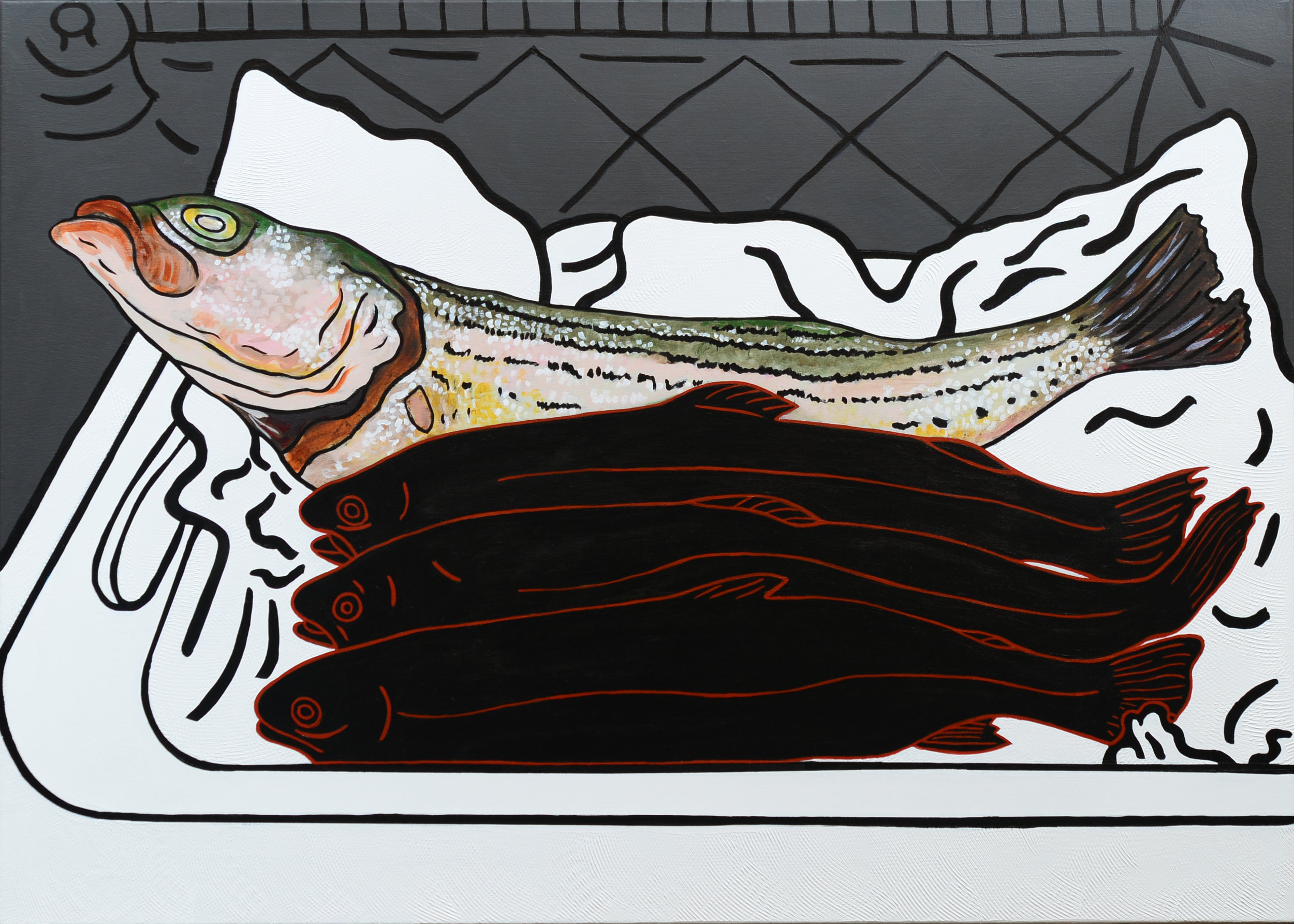 Monochrome Collective : Gary Kret : Phersepone's Temtation : Acrylic on Canvas : 30 x 42in : $5,800.jpg