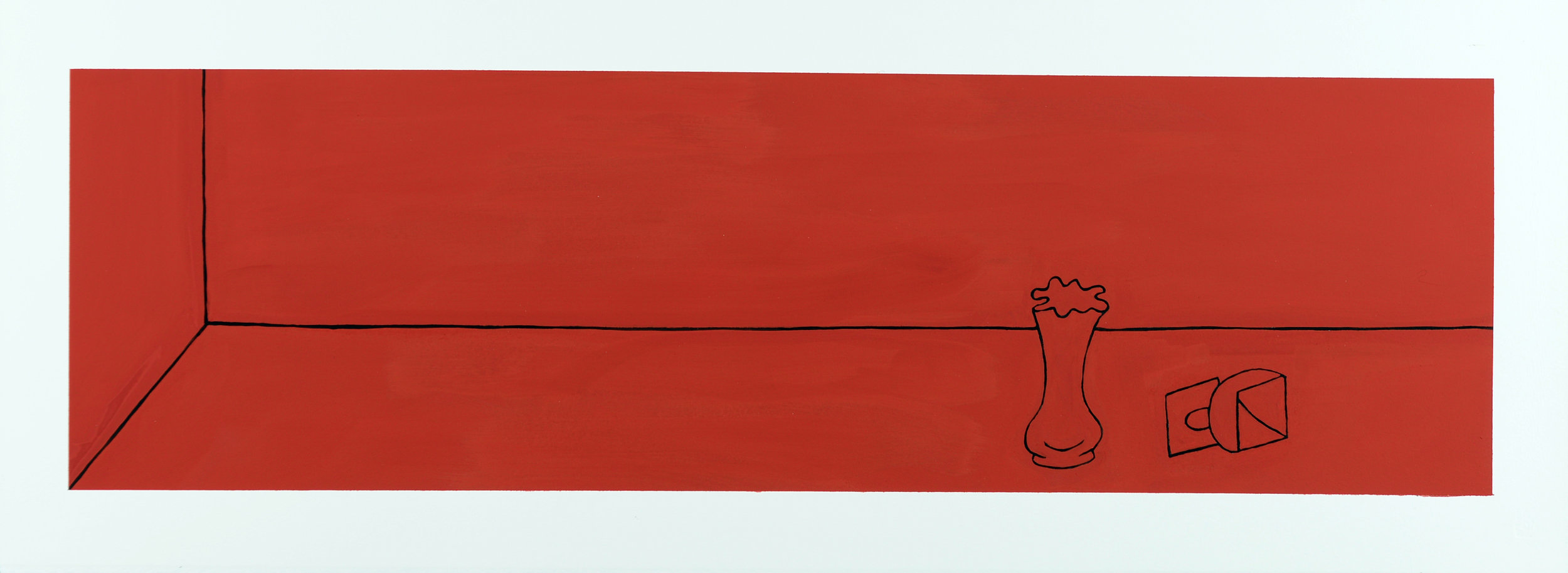 Monochrome Collective : Gary Kret : Would the Underworld be Red Series #1 : Casein on Paper : 8 x 27.5 : $2,600.jpg