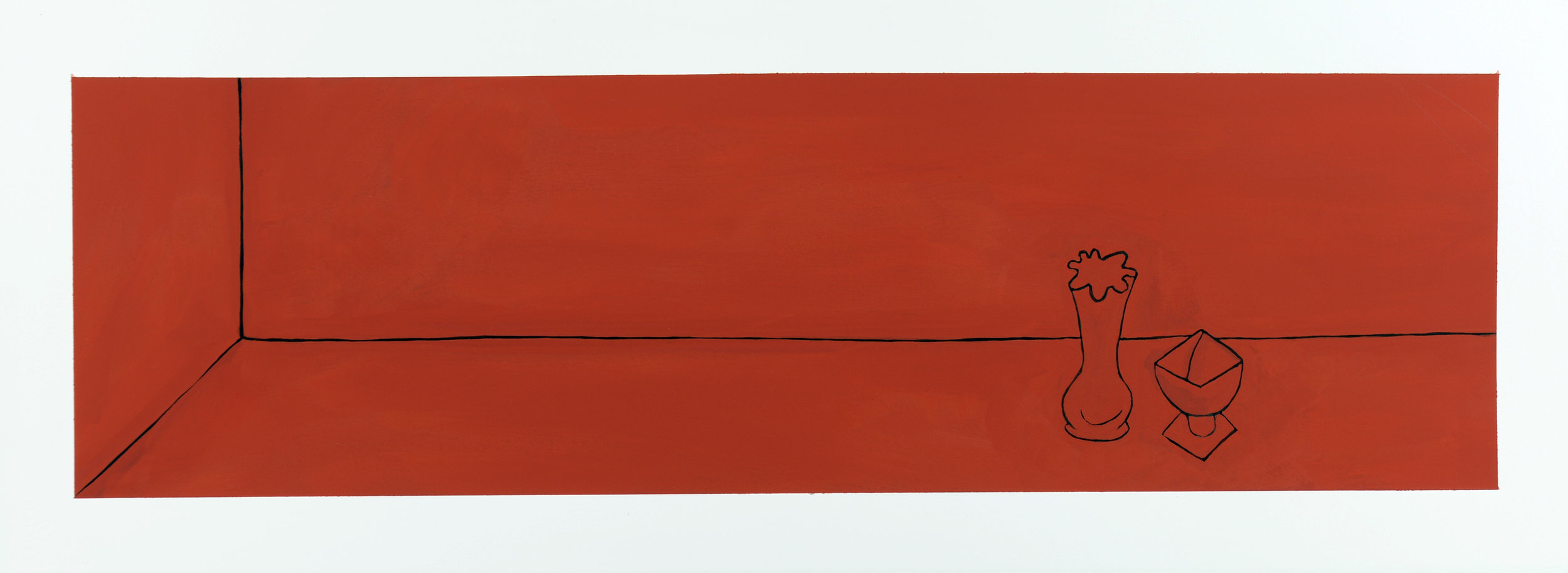 Monochrome Collective : Gary Kret : Would the Underworld be Red Series #3 : Casein on Paper : 8 x 27.5 : $2,600.jpg