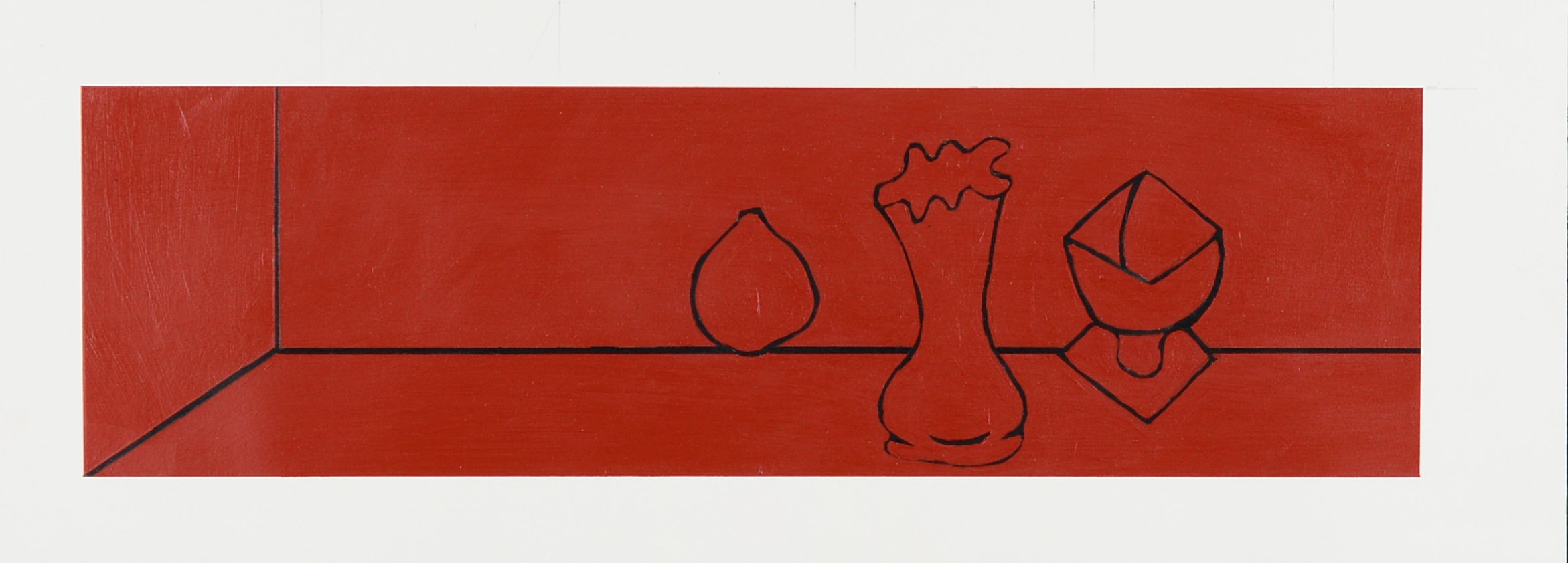 Monochrome Collective : Gary Kret : Would the Underworld be Red Series #5 : Acrylic on paper : 4 x 13.5 in. : $850.jpg
