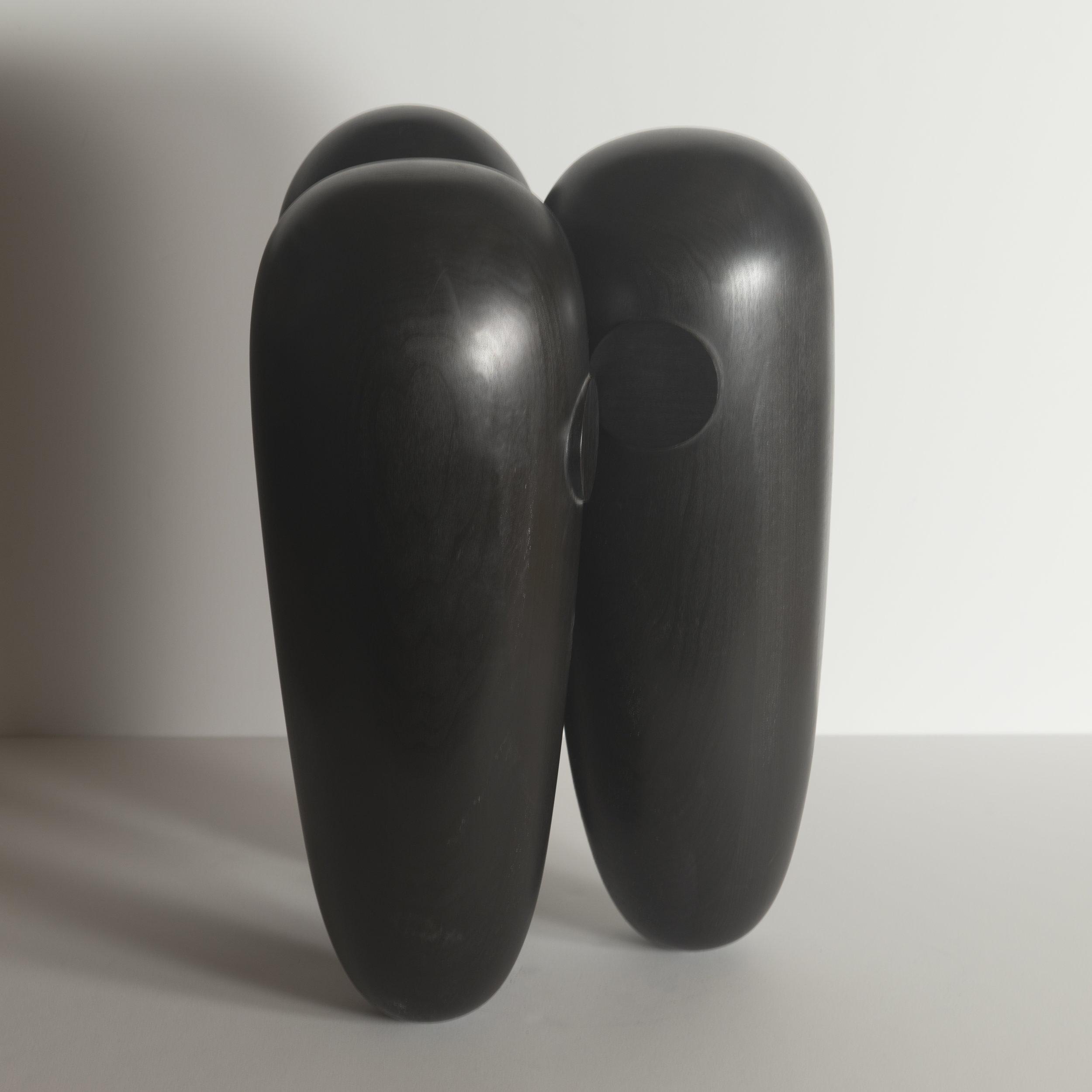 Monochrome Colletive : Gary Kret : Conspiracy : maple, black aniline dye paste, wax finish : 18.5 x 13.5 x 13 in. : $4,900.jpg