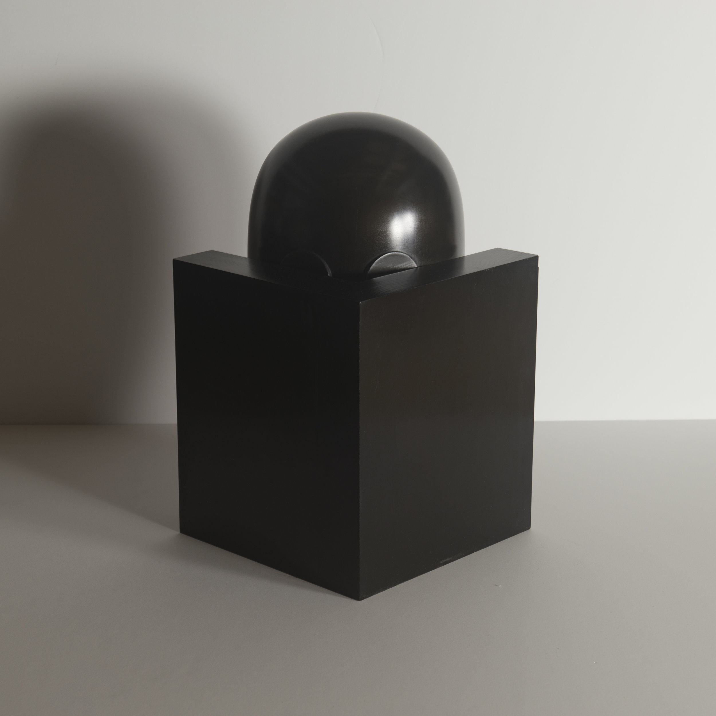Monochrome Colletive : Gary Kret : Punnishment : maple, black aniline dye paste, wax finish : 15.5 x 9.5 x 9.5 in. : $3,200.jpg