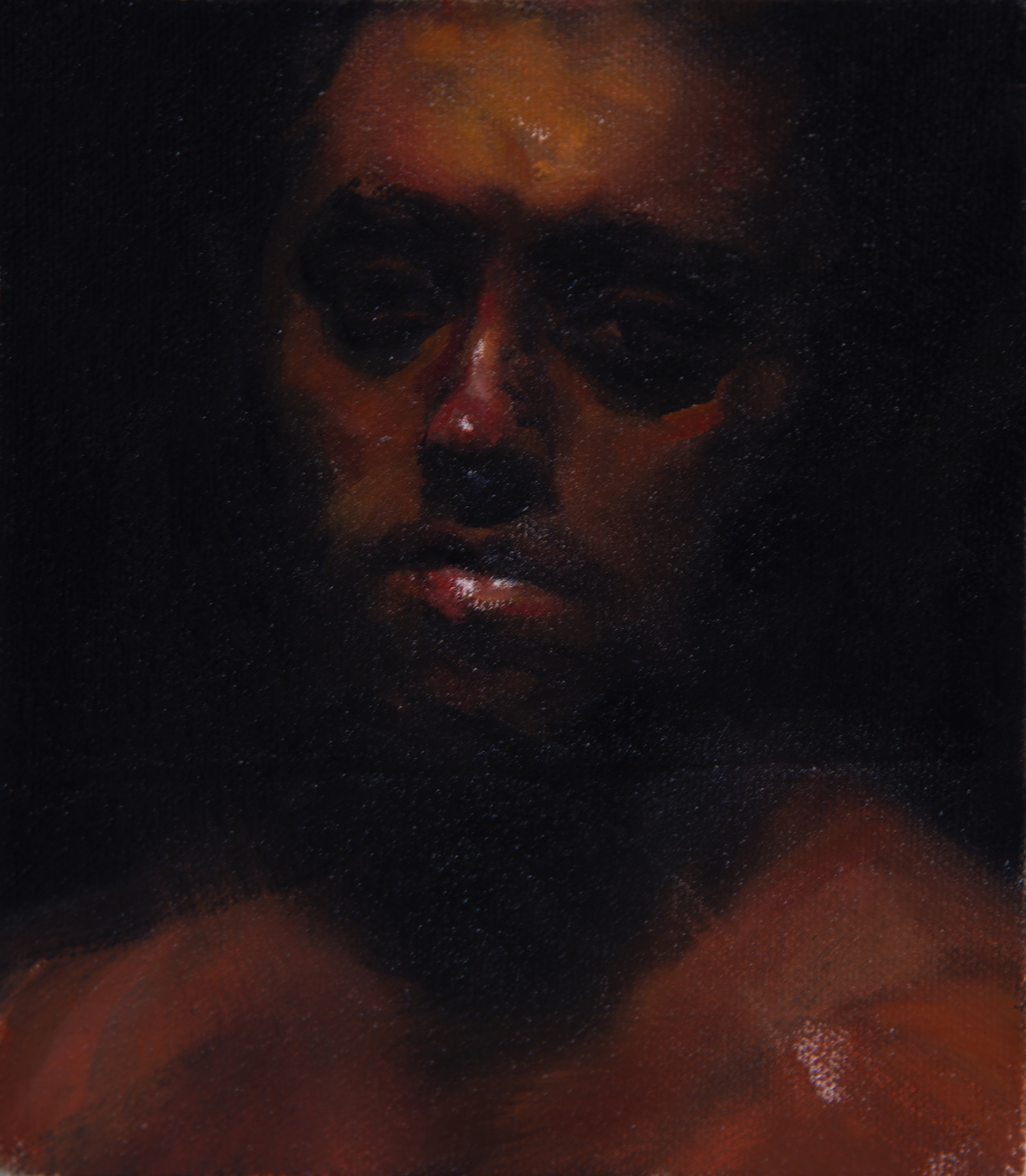 Monochrome Collective : Martin Swift : Anson : 9 x 11 in. framed : oil on canvas : $950.jpg