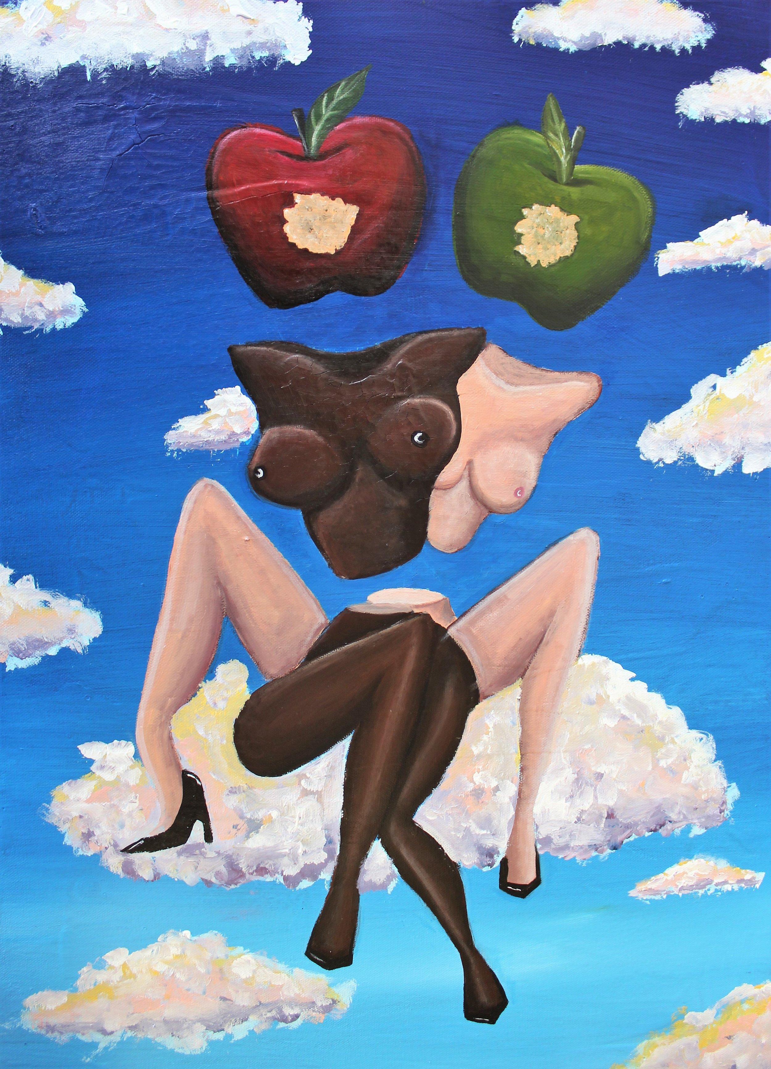 Abi Salami -Got Your Back, Sis - Acrylic on canvas - 24H 18W 1.5D- 2018 - $1125.jpg.jpg