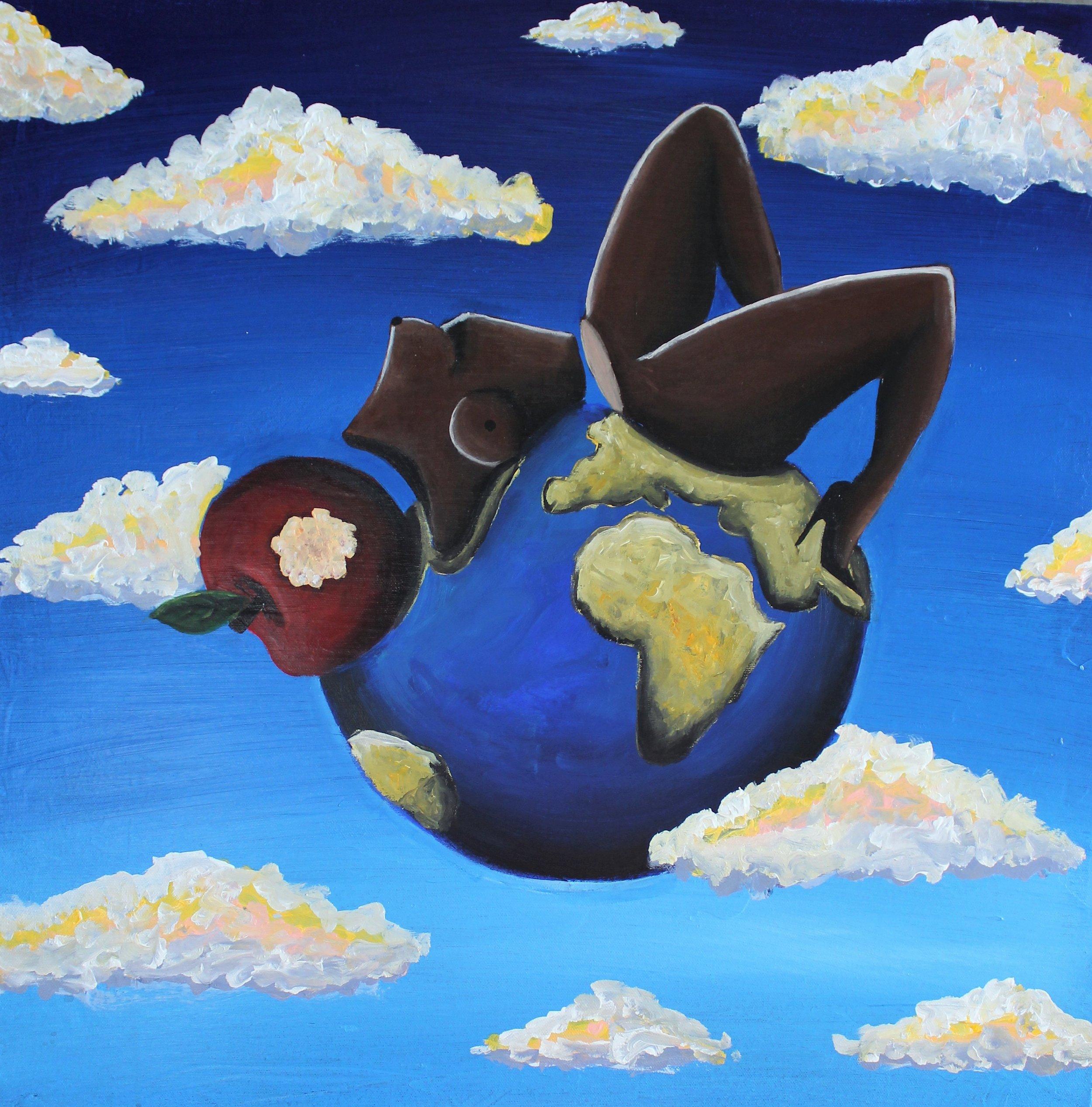 Abi Salami -In this World Alone - Acrylic on canvas - 24H 24W 1.5D- 2018 - $1500.jpg.jpg