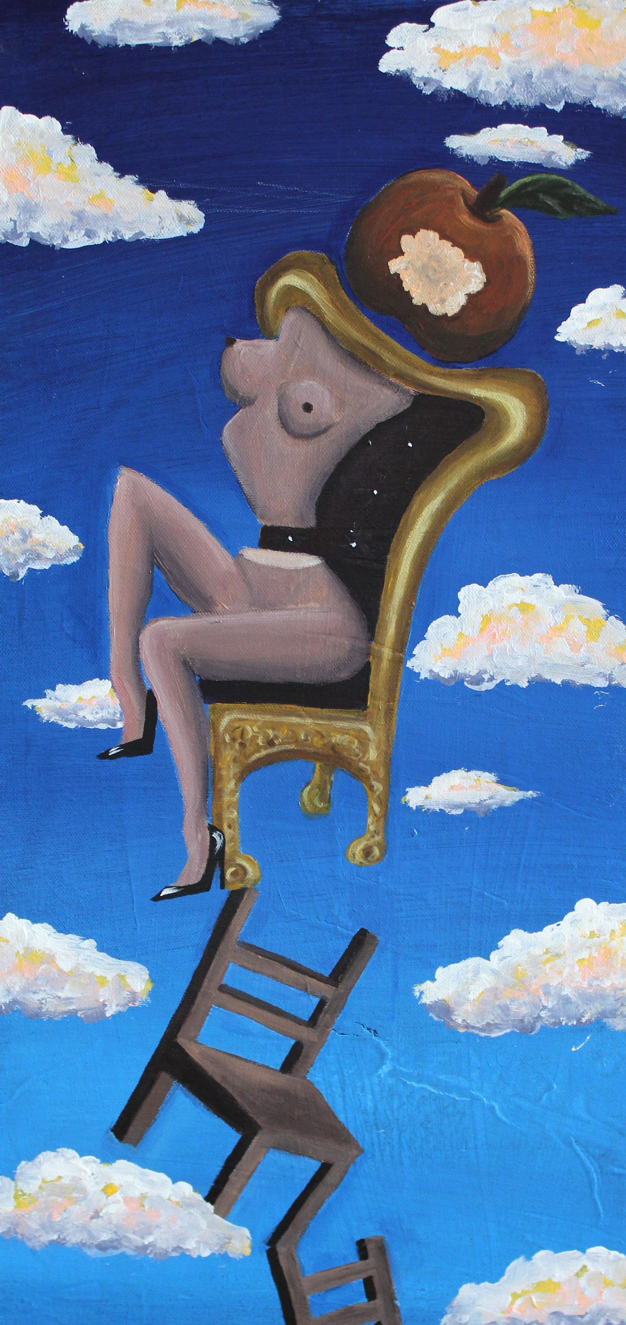 Abi Salami -Sitting Precariously I - Acrylic on canvas - 24H 12W 1.5D- 2018 - $750.jpg.jpg