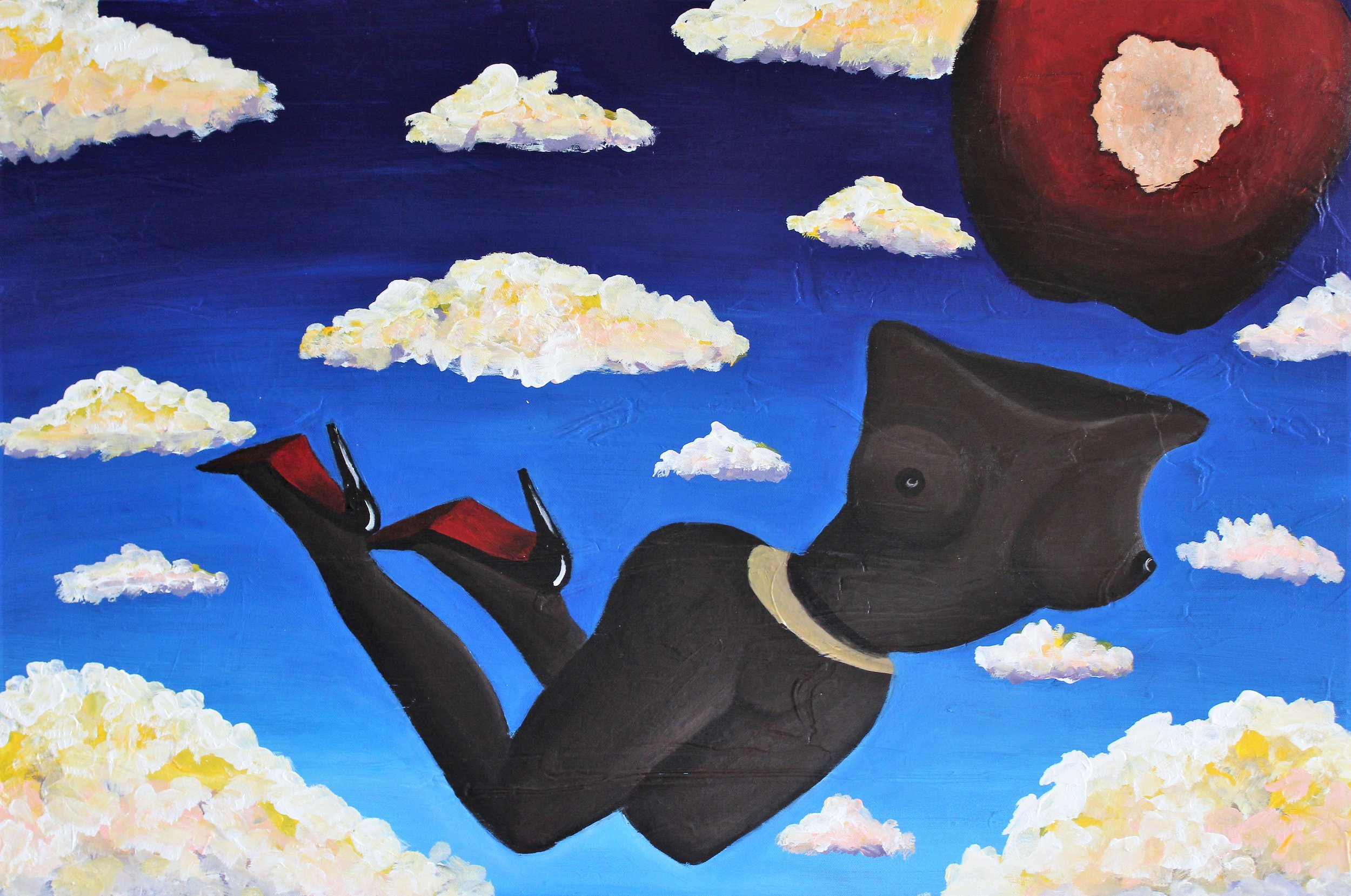 Abi Salami -Untitled - Acrylic on canvas - 24H 36W 1.5D- 2018 - $2250.jpg.jpg