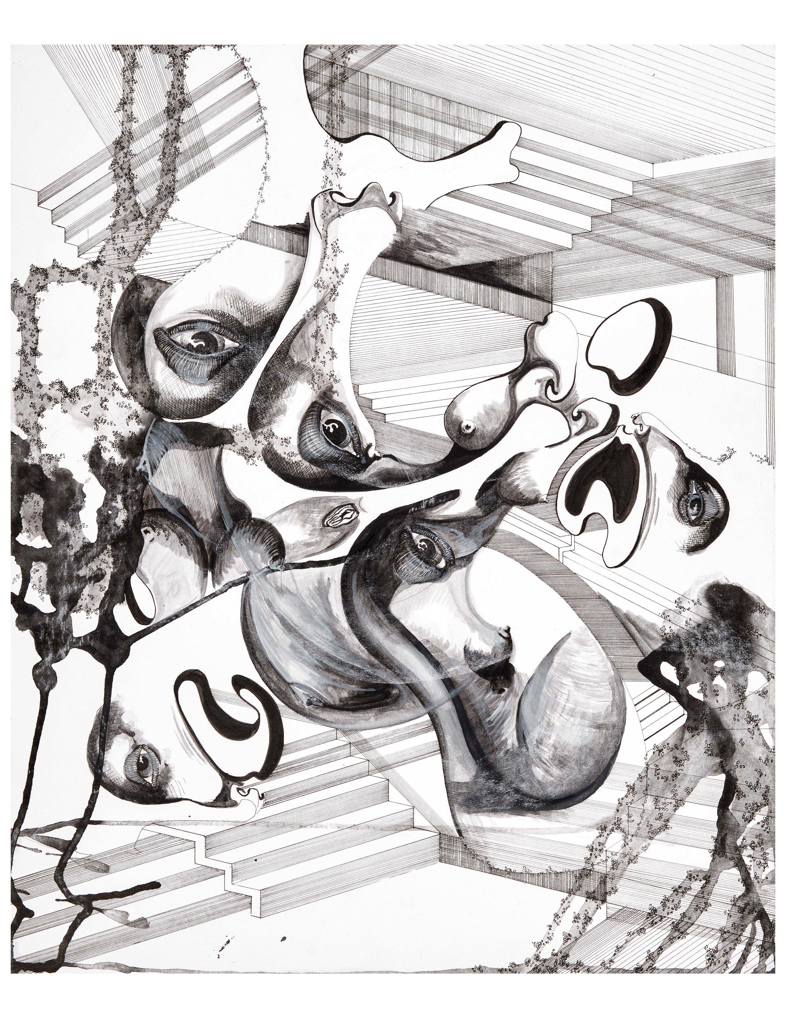 EbruDuruman-ConfusedFaces-14_x17_-PenInk on Paper-2017-500$.jpg