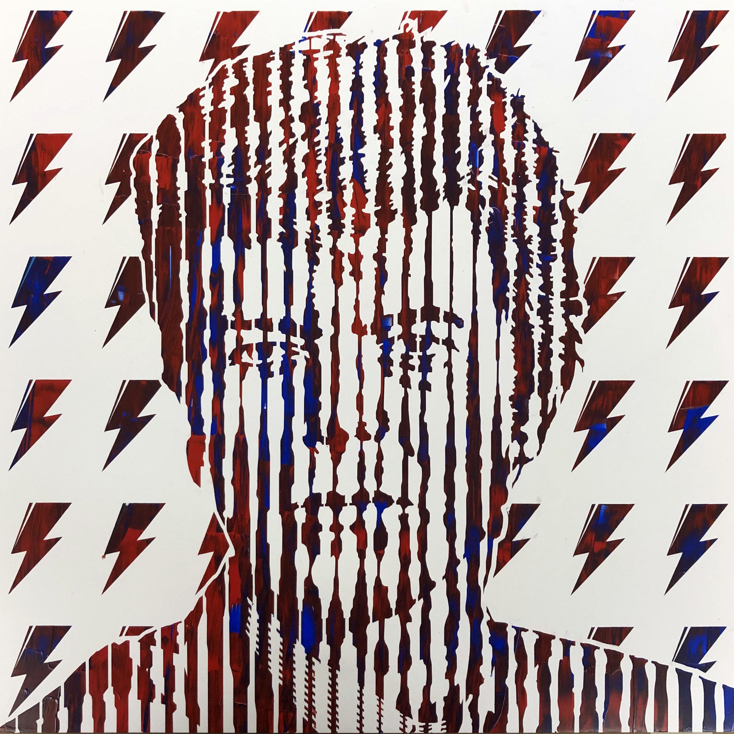 Sean Christopher Ward - Bowie II - Acrylic on Wood Panel - 16x16x1.5 - 2018 - 500.jpg