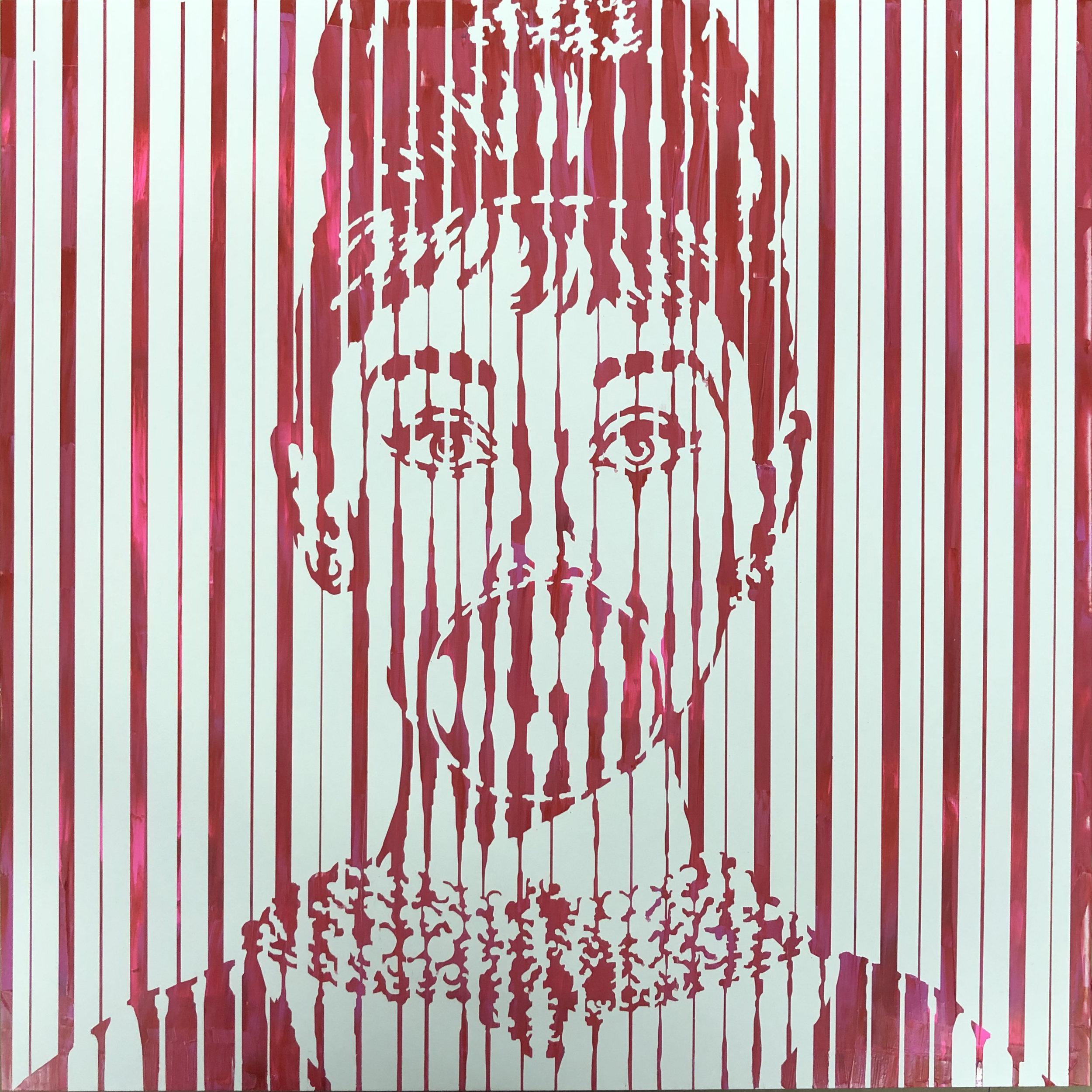 Sean Christopher Ward - Bubble Pop Audrey IV - Acrylic on Wood Panel - 16x16x1.5 - 2018 - 500.jpg