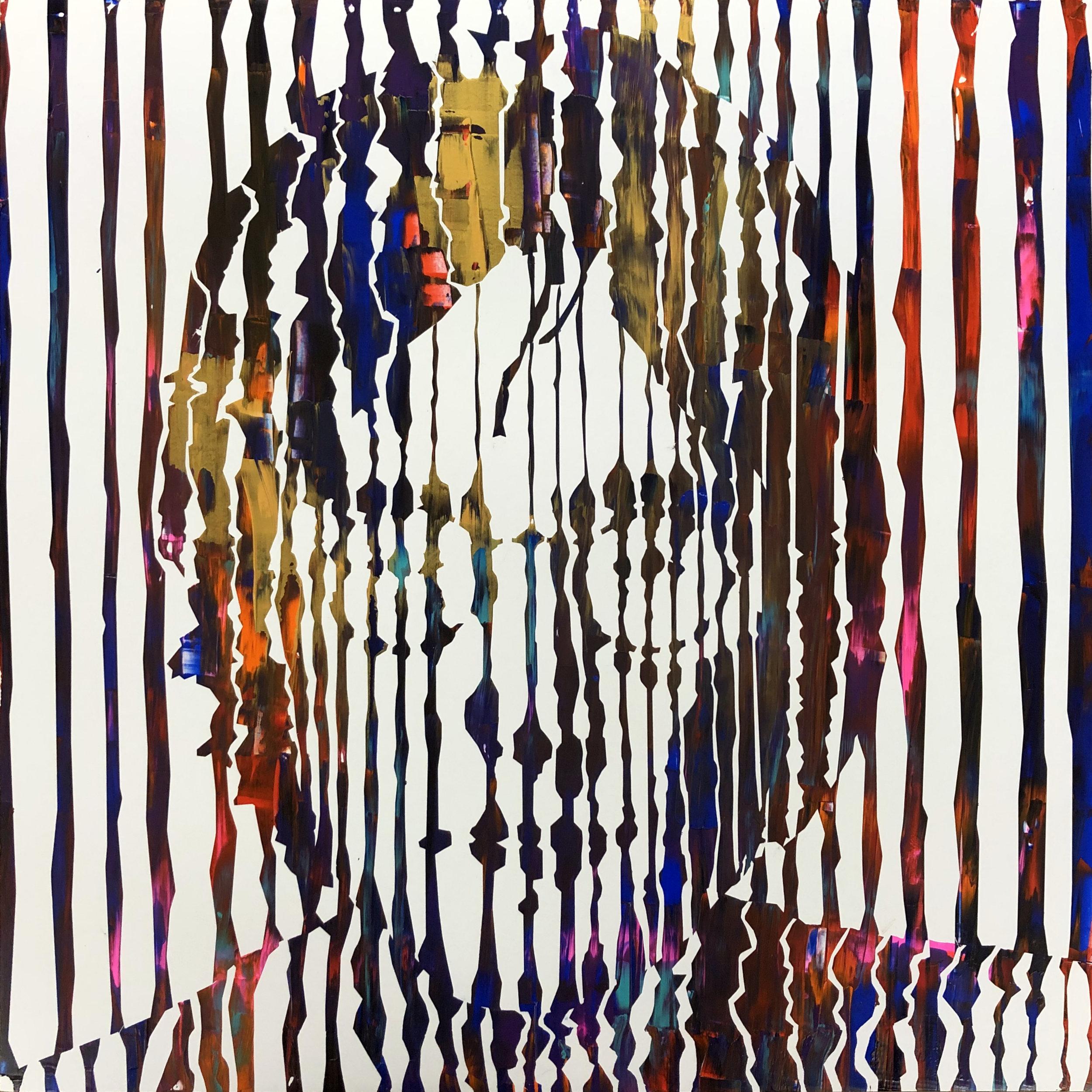 Sean Christopher Ward - Lennon III - Acrylic on Wood Panel - 16x16x1.5 - 2018 - 500.jpg