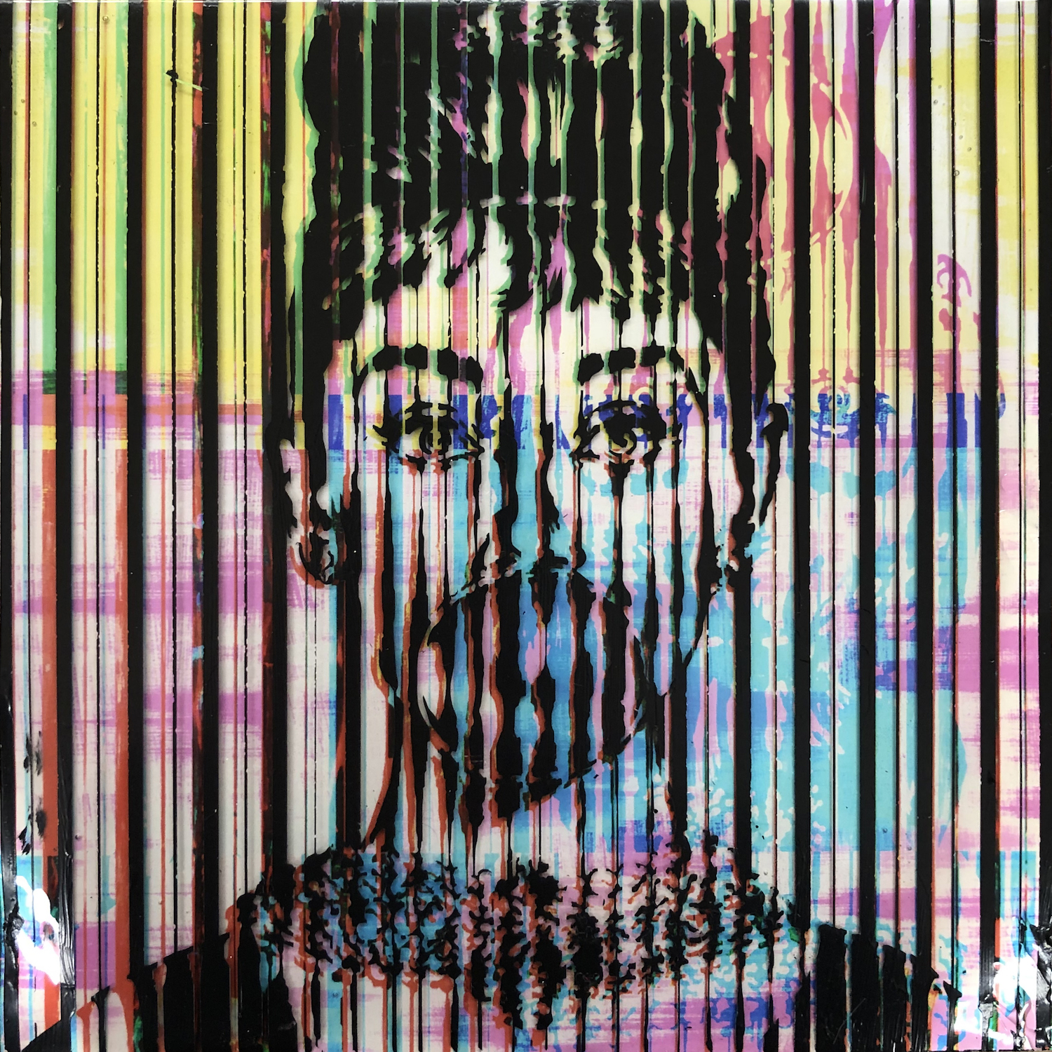 Sean Christopher Ward and Nick Drake Collaboration - Bubble Pop Audrey Glitched - Acrylic, Photograph and ArtResin on Wood Panel - 8x8x1.5 - 2018 - 250.jpg