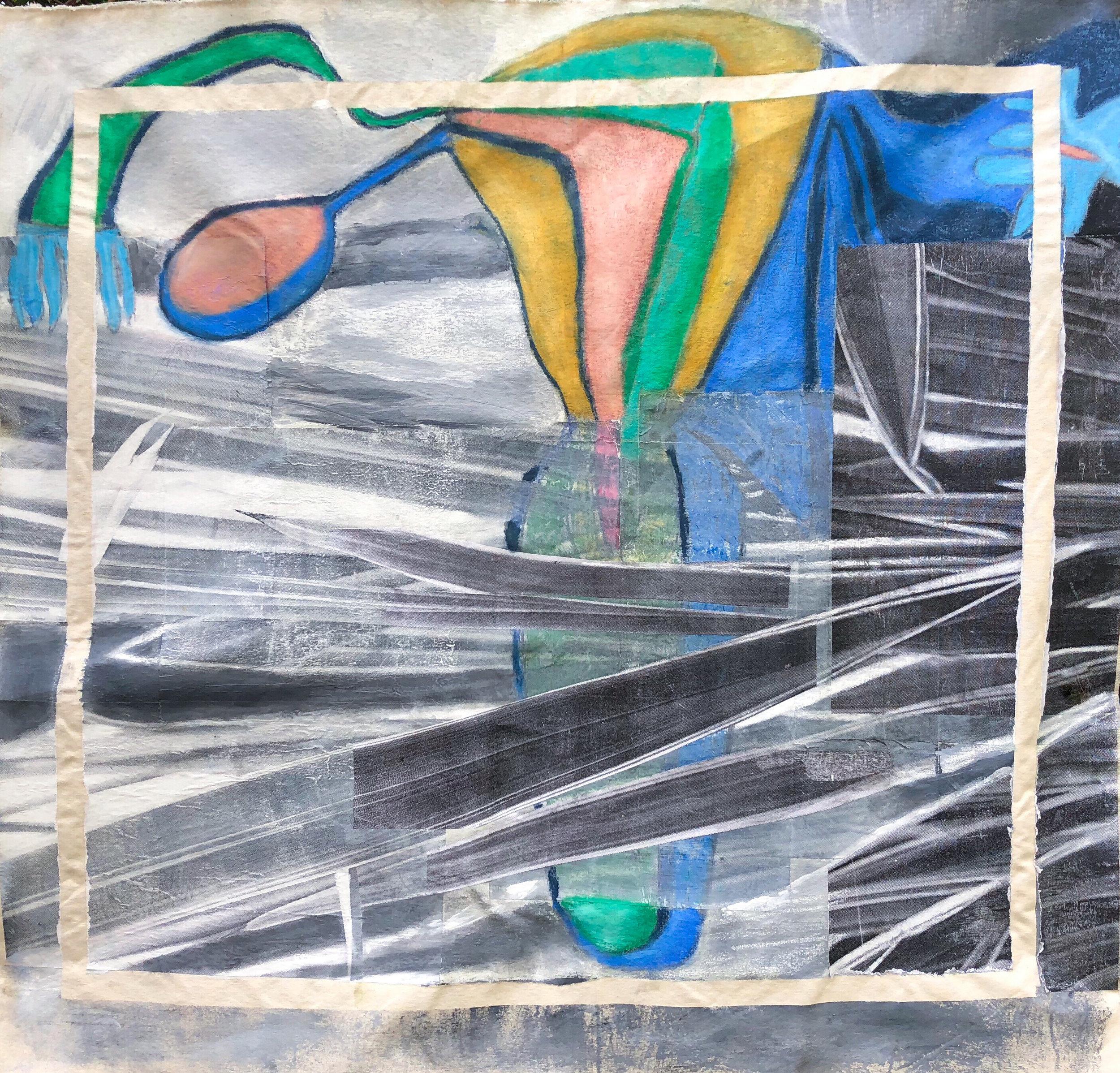 TonyMichaleEstrada - Human Nature II - collage on canvas_ pastels and photo prints - 48 x 42 - 2016 - $600.jpg