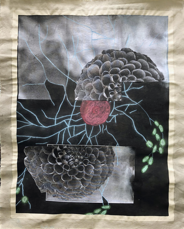 TonyMichaleEstrada - Human Nature IVb - collage on canvas_ pastels and photo prints - 45 x 36 - 2016 - $350.jpg