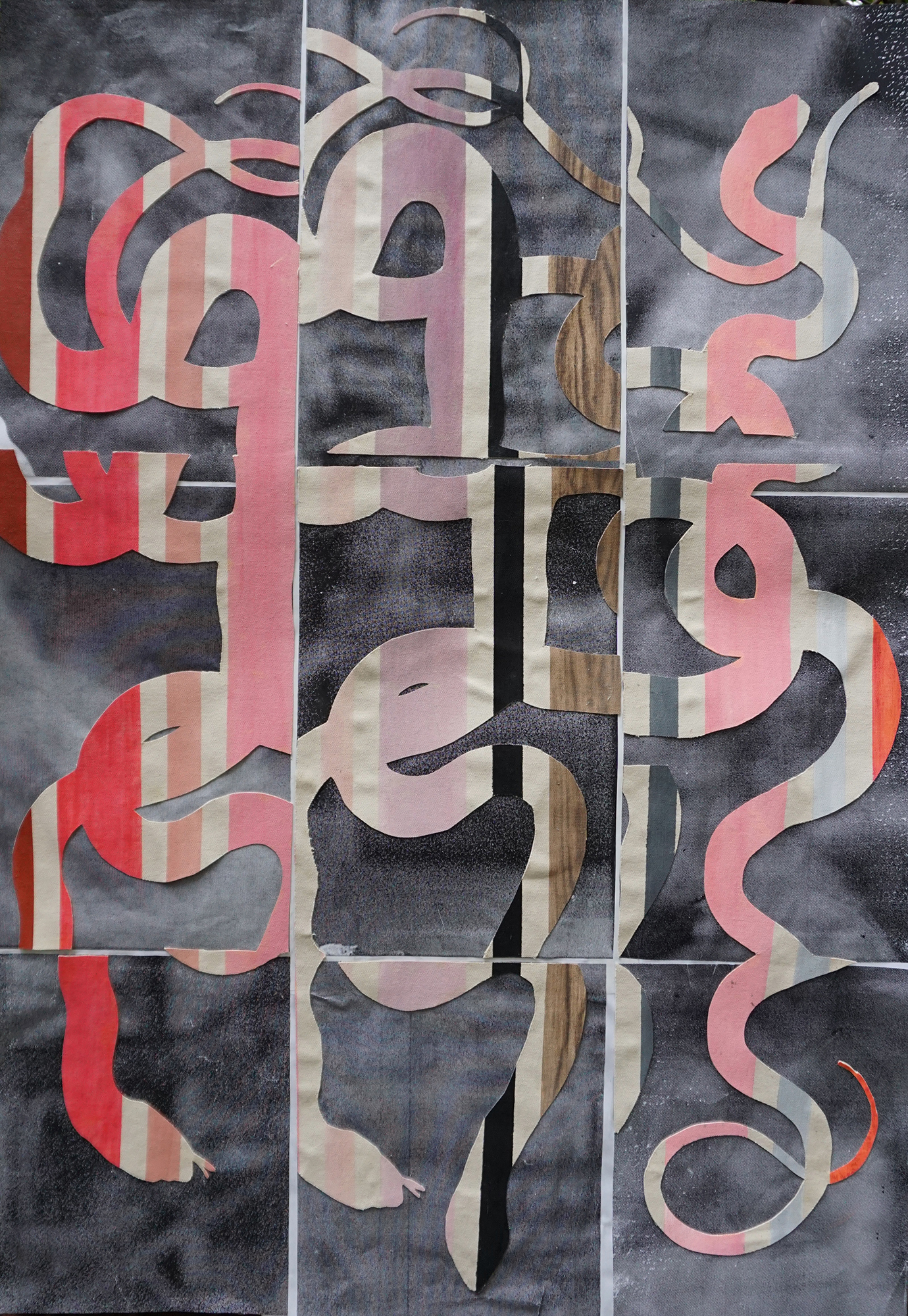 TonyMichaleEstrada - Intecessors - 44 x 31.5 - pastels on canvas cutouts on photo print collage - 2018 - $350.jpg