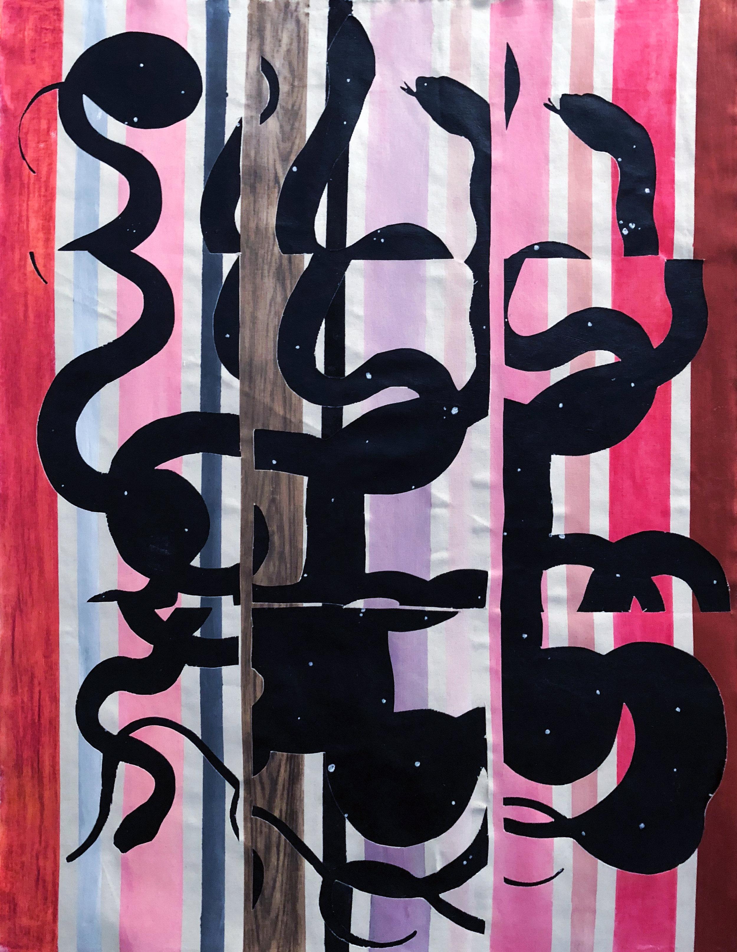 TonyMichaleEstrada - Intecessors 2 - 44 x 34 - pastels on canvas on acrylic on canvas - 2018 - $450.jpg