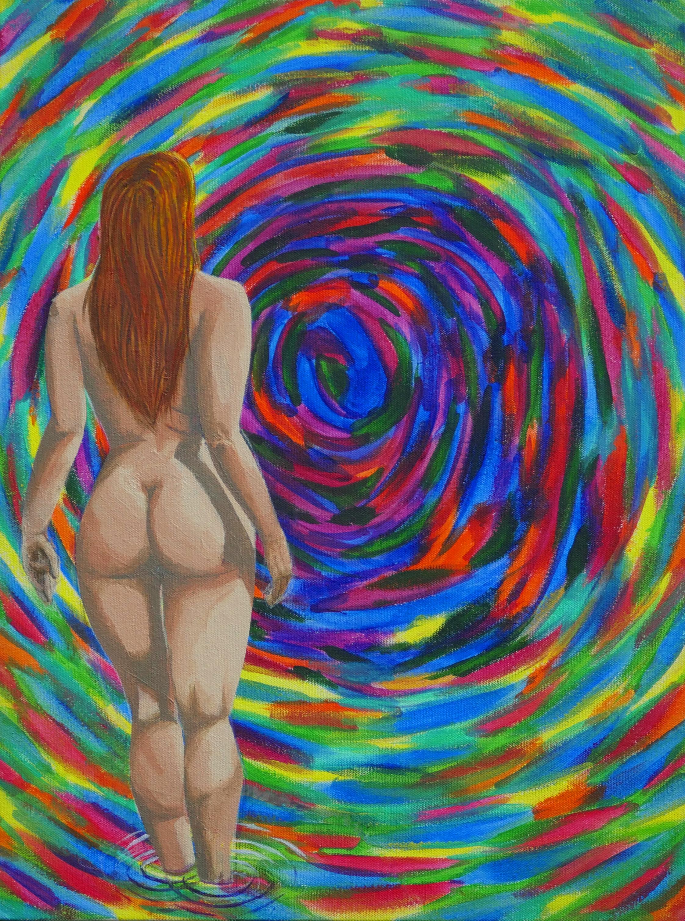 Joaquin Alonso- Naked woman 2- Acrylic on canvas- 20x16- 2018, $1000.jpg