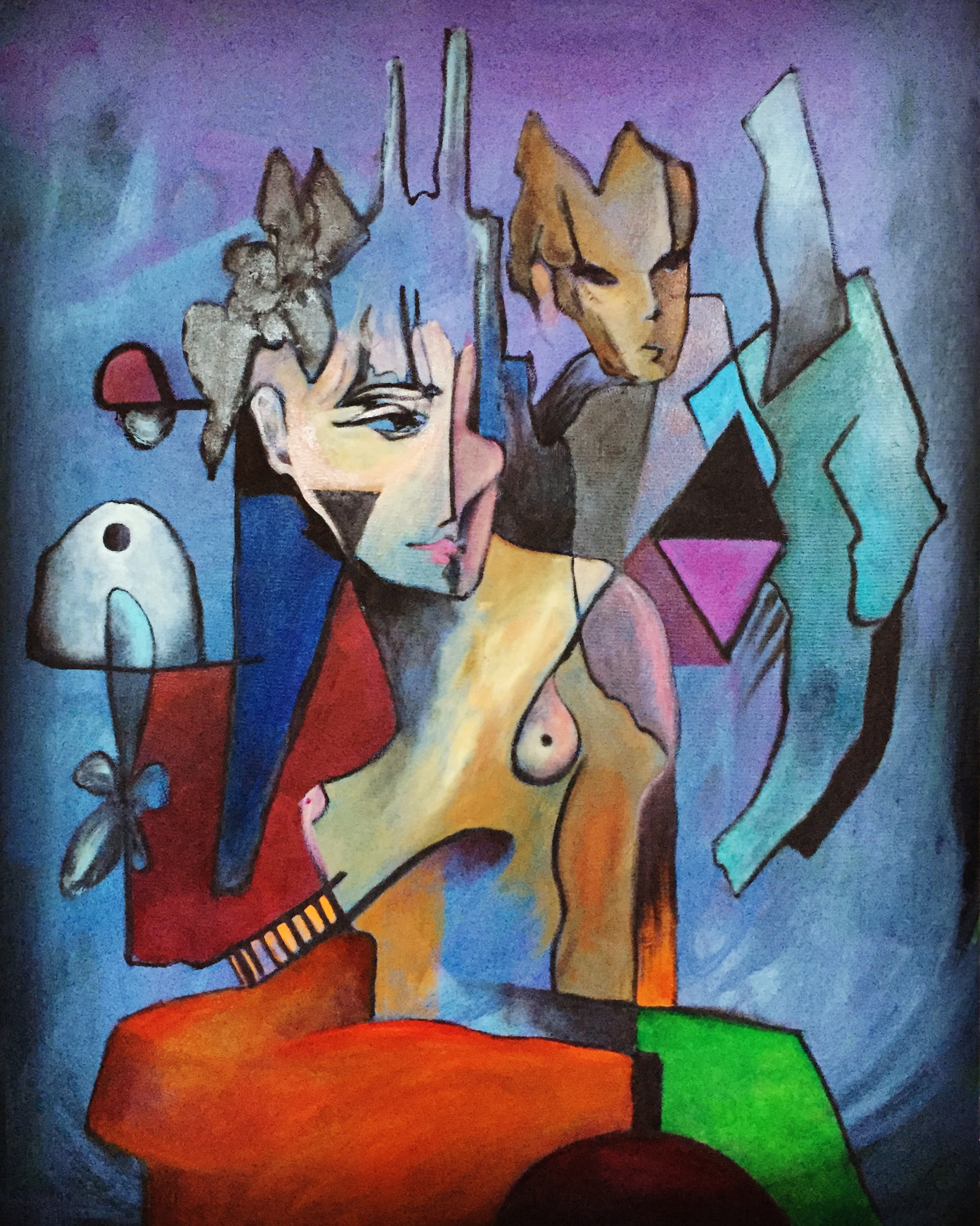 Woman and Man oil on canvas 2018 _51 x38in_ 2800 .JPG