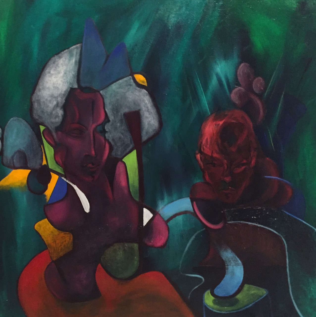 Woman and man II oil on canvas 40x40 in 2018 _ 2500 dol.jpg