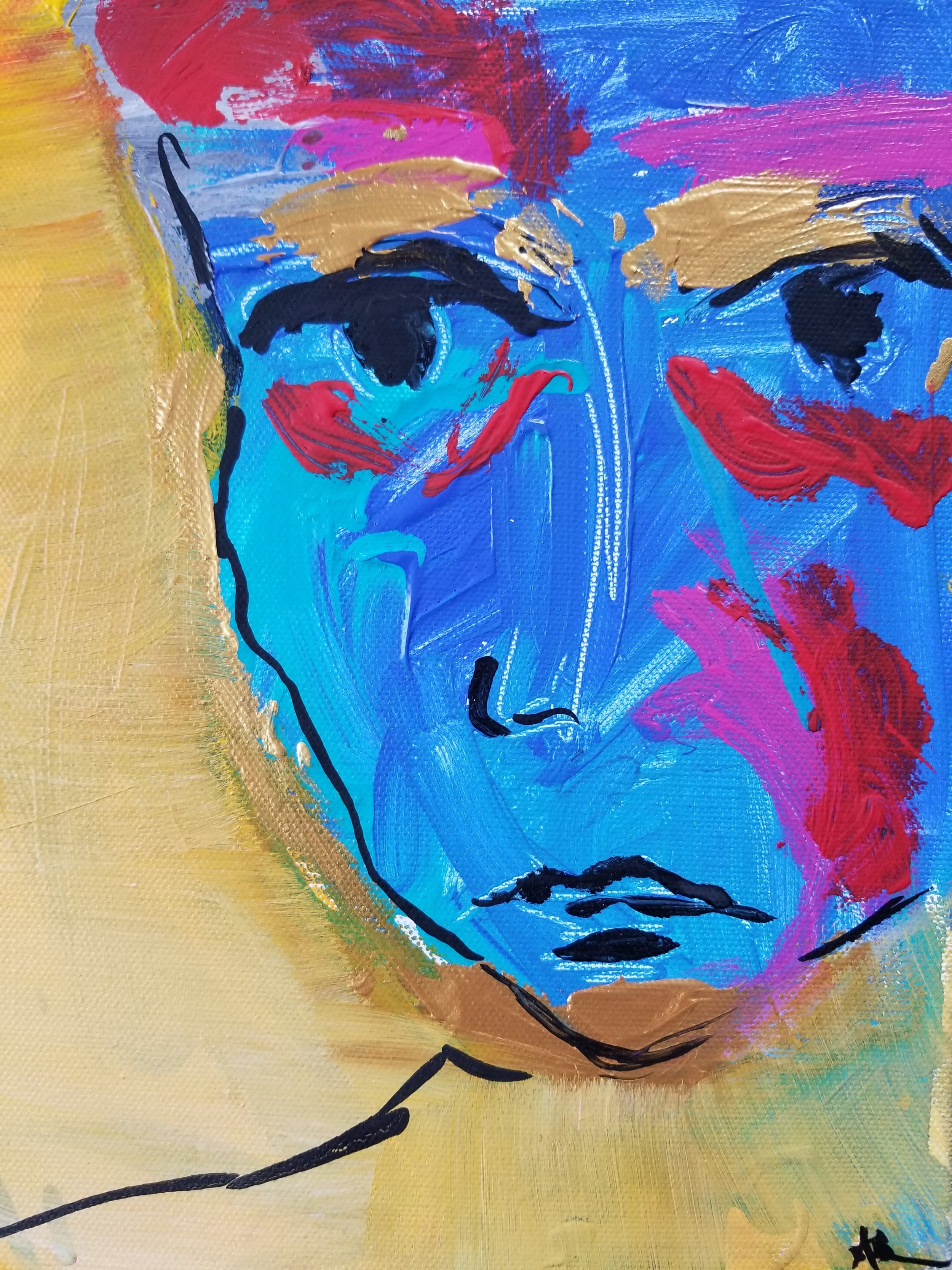 A.R.DREWART BareBlue AcrylicOilStcikCanvas 10x8 2018 Price250.jpg