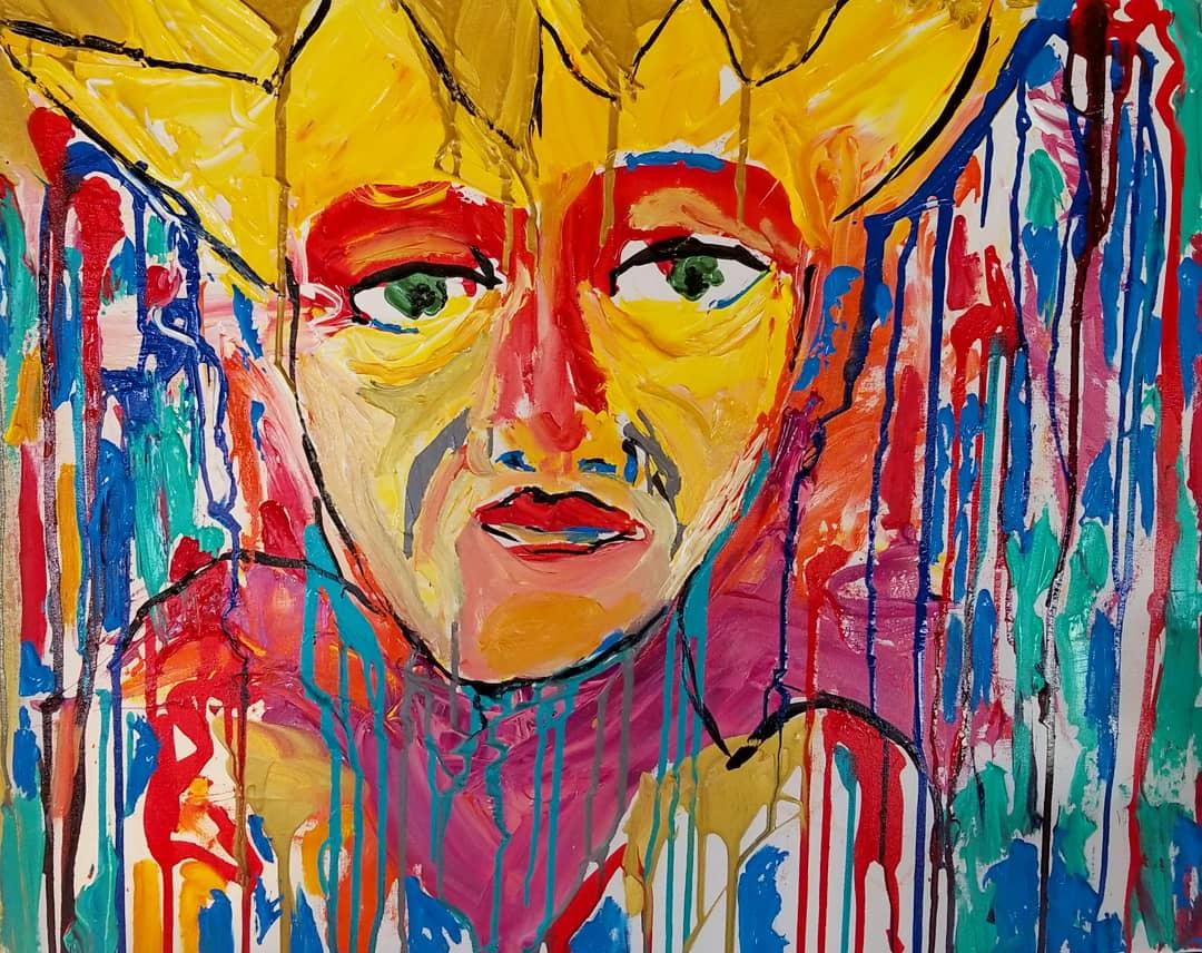 ARDREWART Self-Portrait Acryliccanvas 30x24 2018 Price1200.jpg