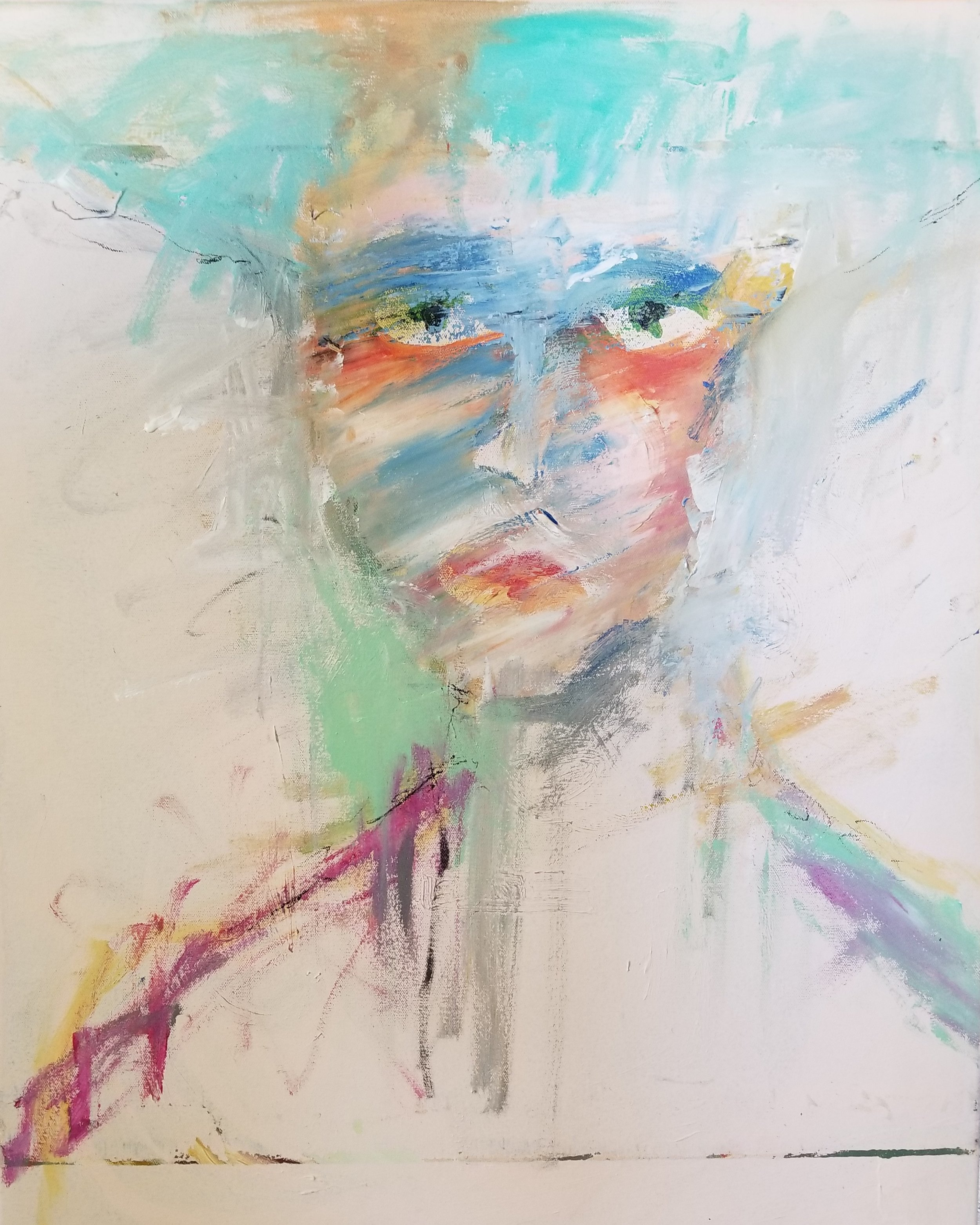 ARDREWART Self-PortraitwithJP AcrylicOilAStickCanvas 30x24 2018 Price2800.jpg