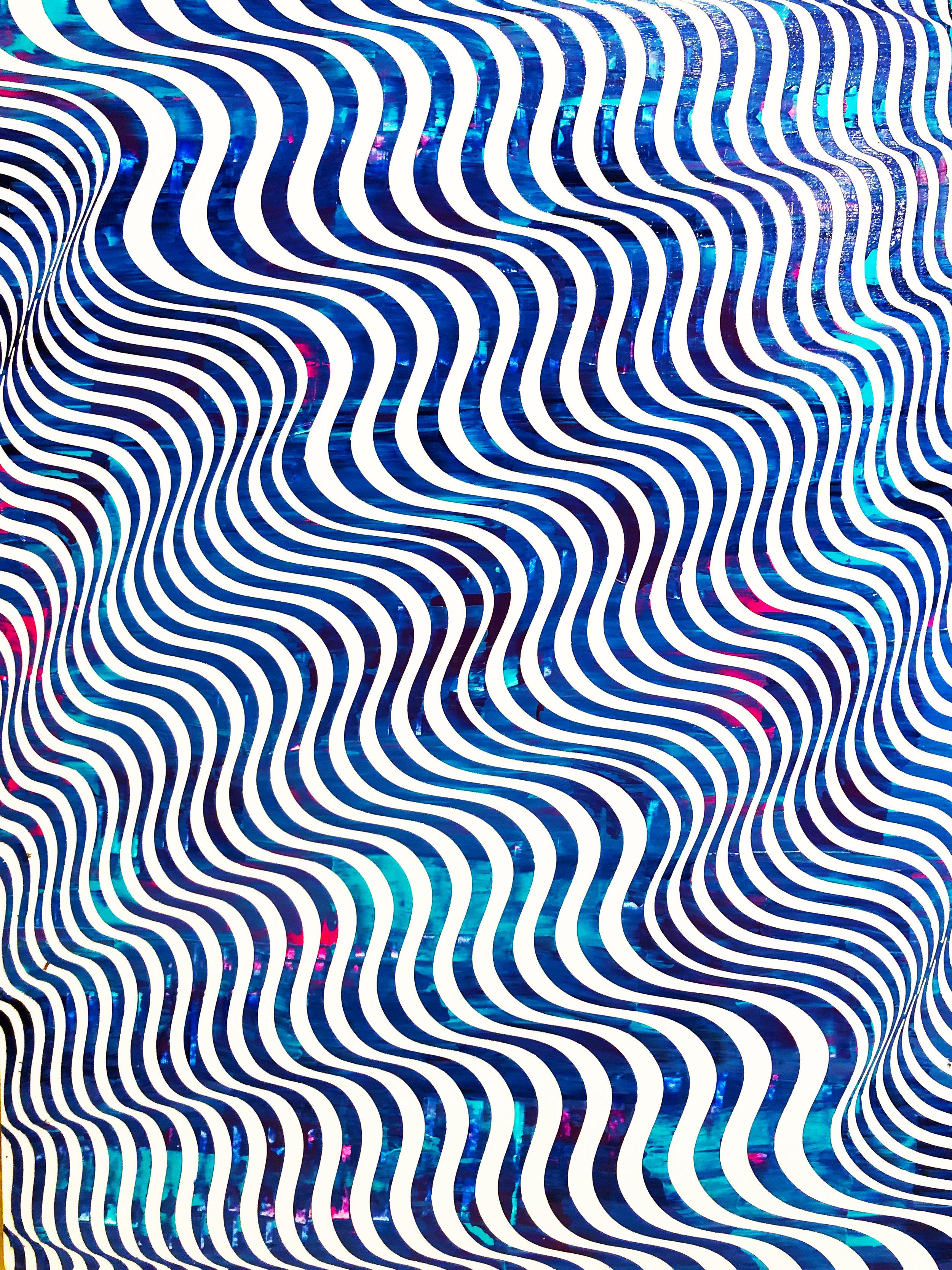 HUE Gallery of Contemporary Art - Sean Christopher Ward - Aquatic Rift - Acrylic on MDF - 12x16 - 2018 - $375.JPG