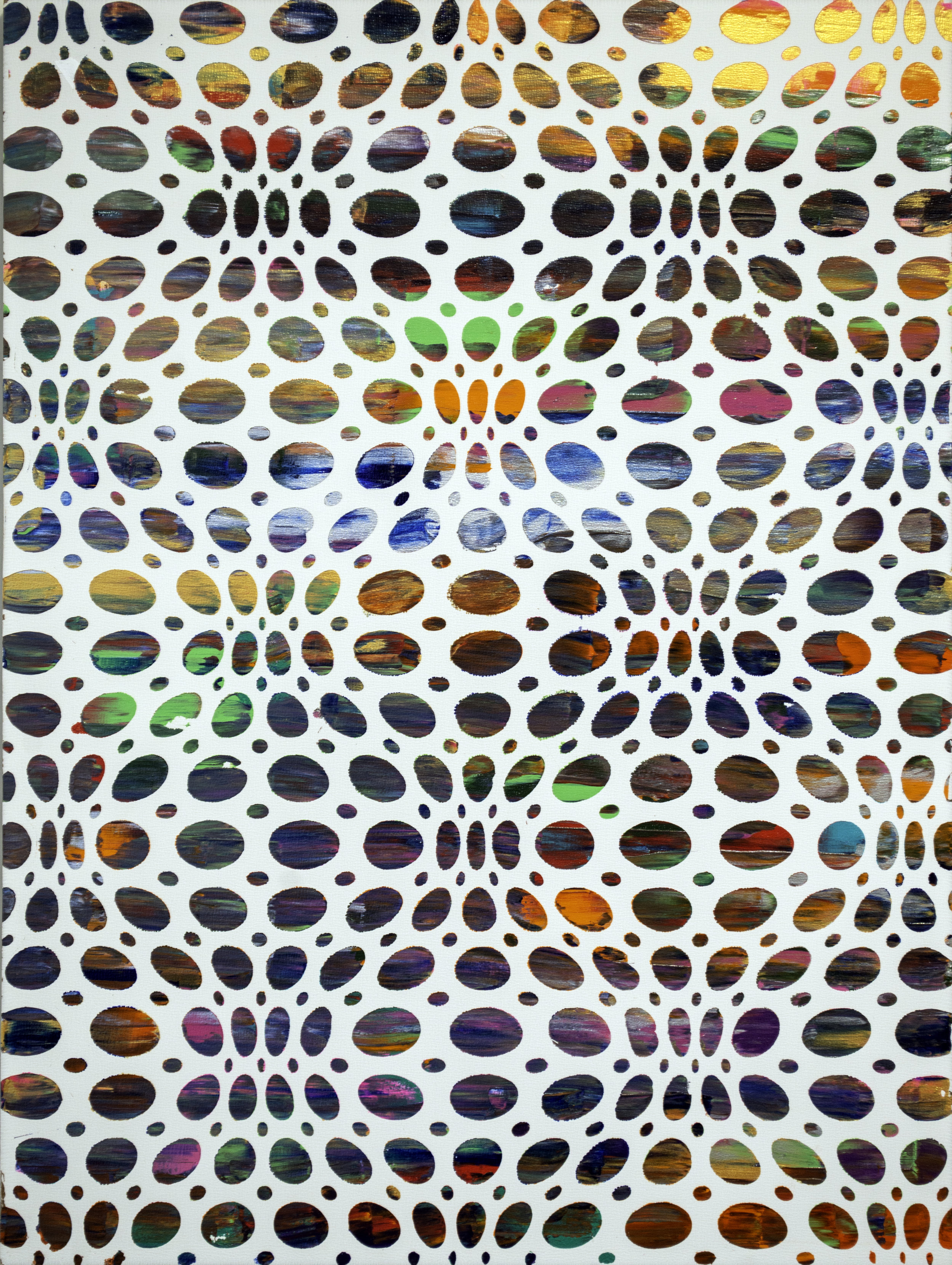 HUE Gallery of Contemporary Art - Sean Christopher Ward - Bead Curtain - Acrylic on MDF - 12x16 - 2019 - $375.jpg