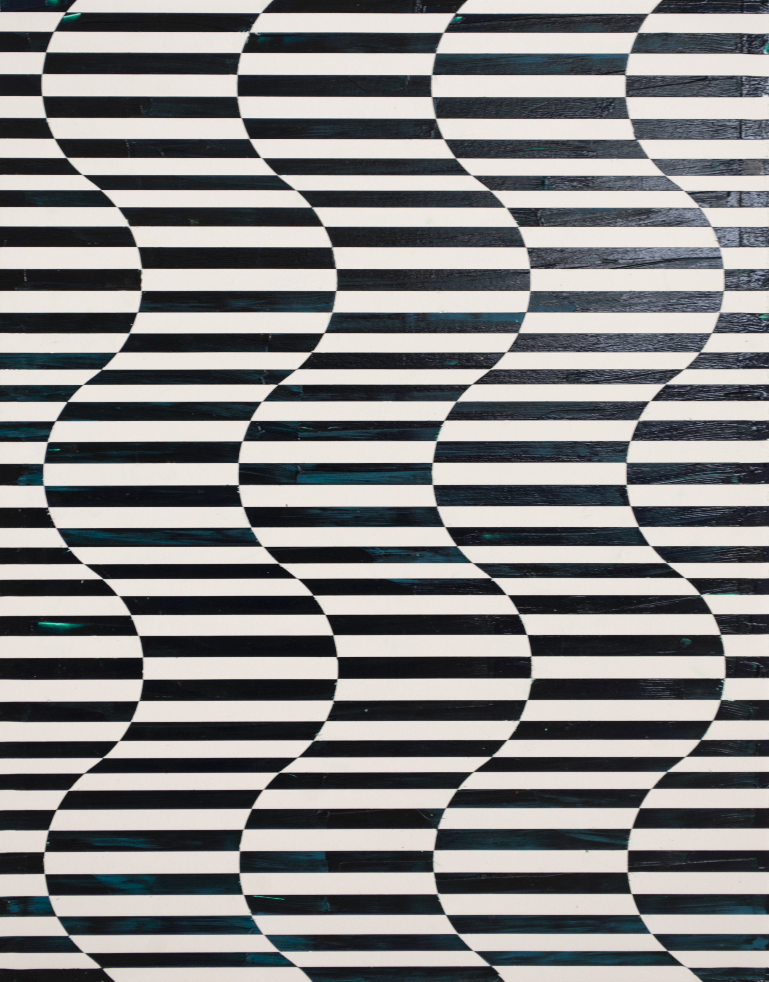 HUE Gallery of Contemporary Art - Sean Christopher Ward - Deep Jaded Waves - Acrylic on MDF - 11x14 - 2018 - $300.jpg